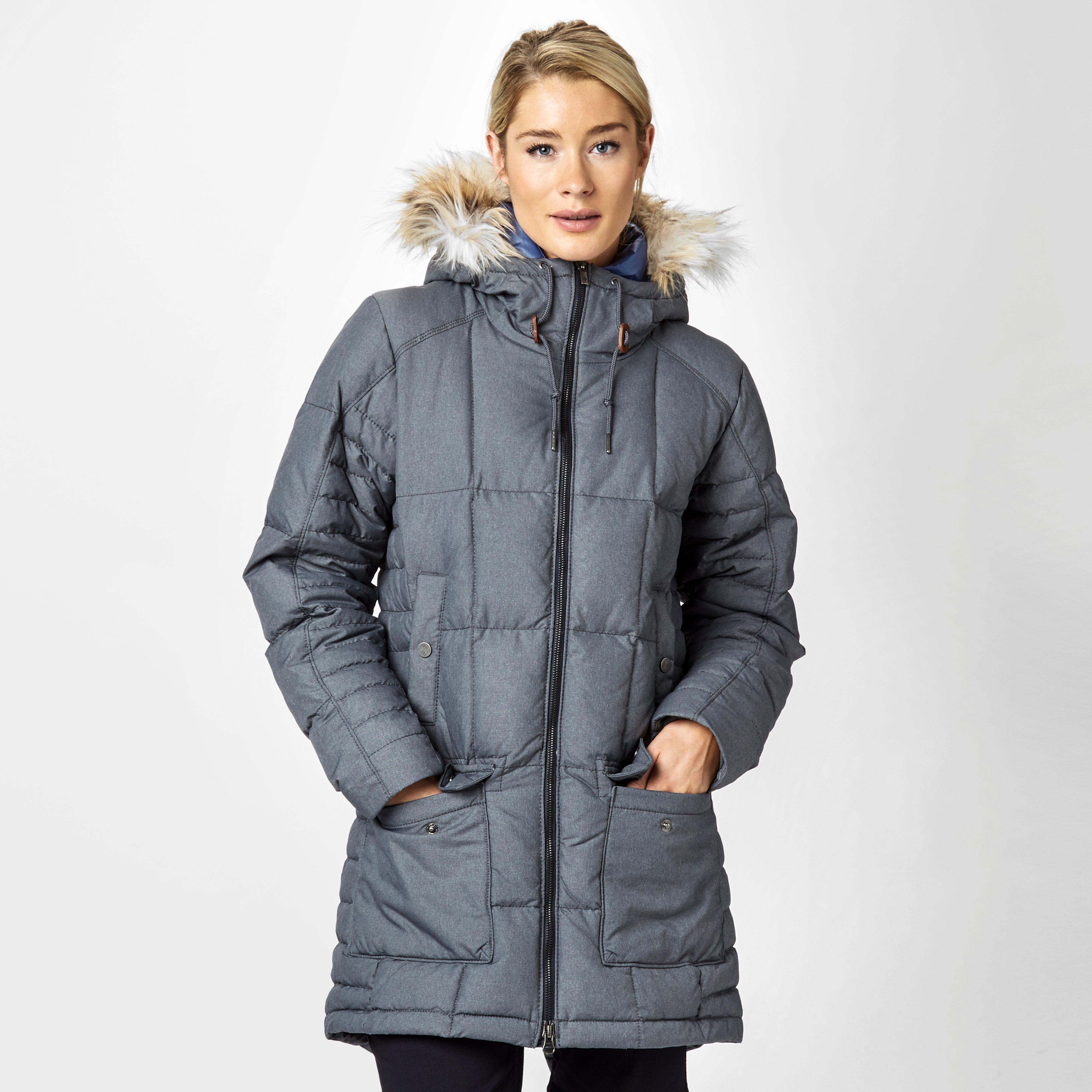 Columbia Women's Della Fall Parka Jacket, Grey | Bear Grylls UK ...