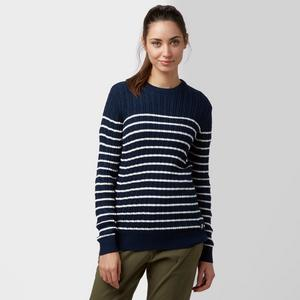 BRAKEBURN Women's Striped Cable Jumper