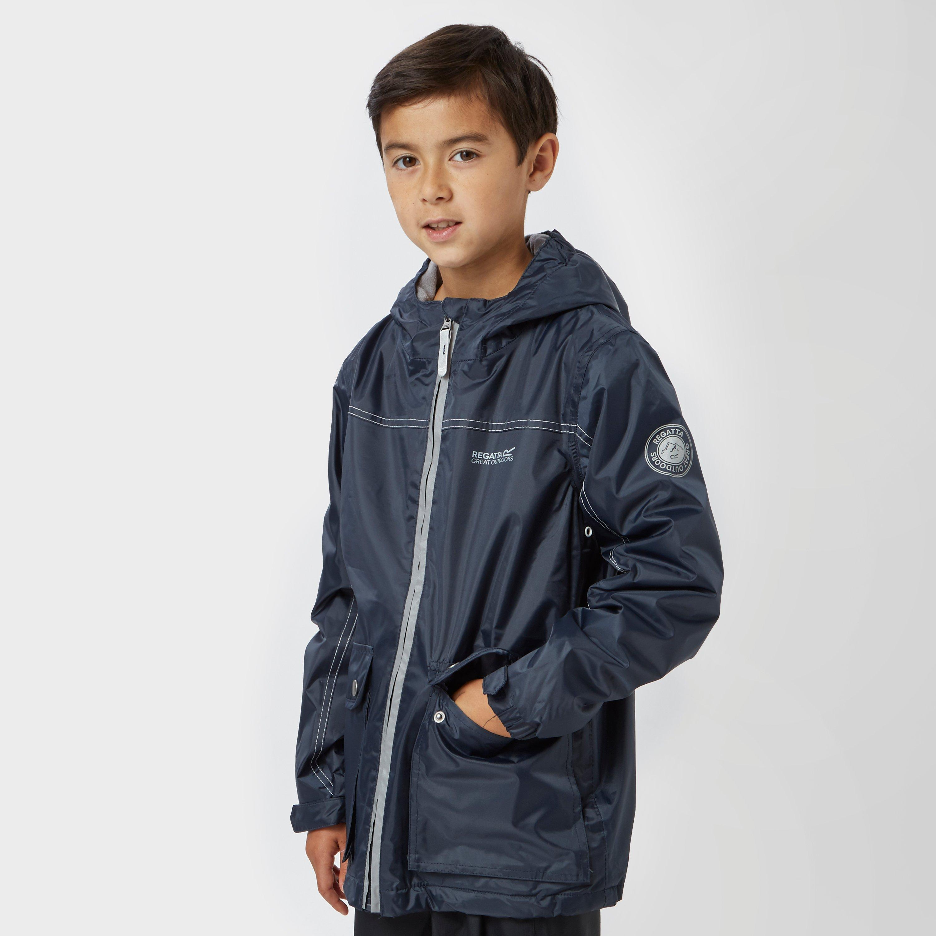 Regatta Boys Malham Waterproof Jacket Navy