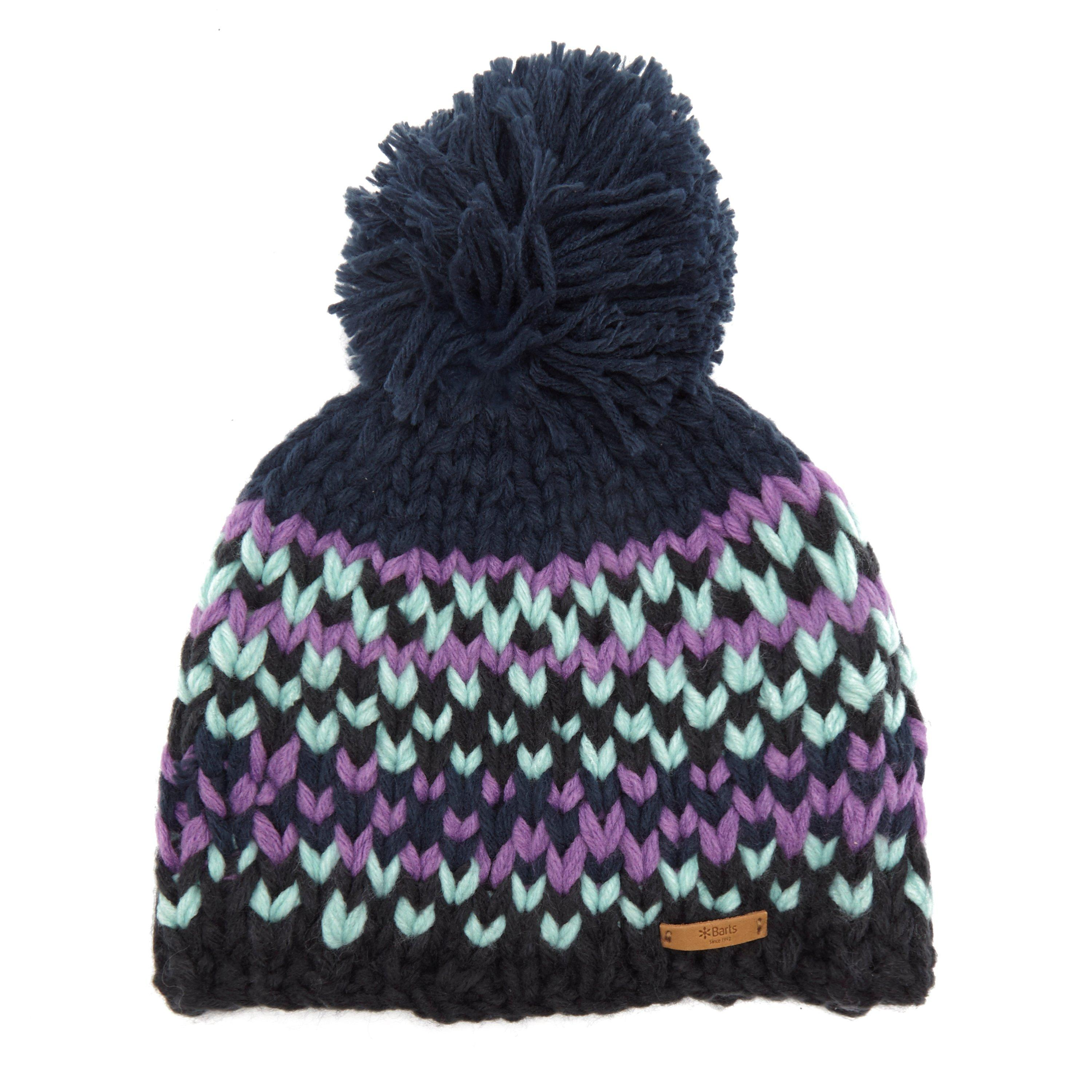 Barts Womens Jubba Beanie Bobble Hat Navy