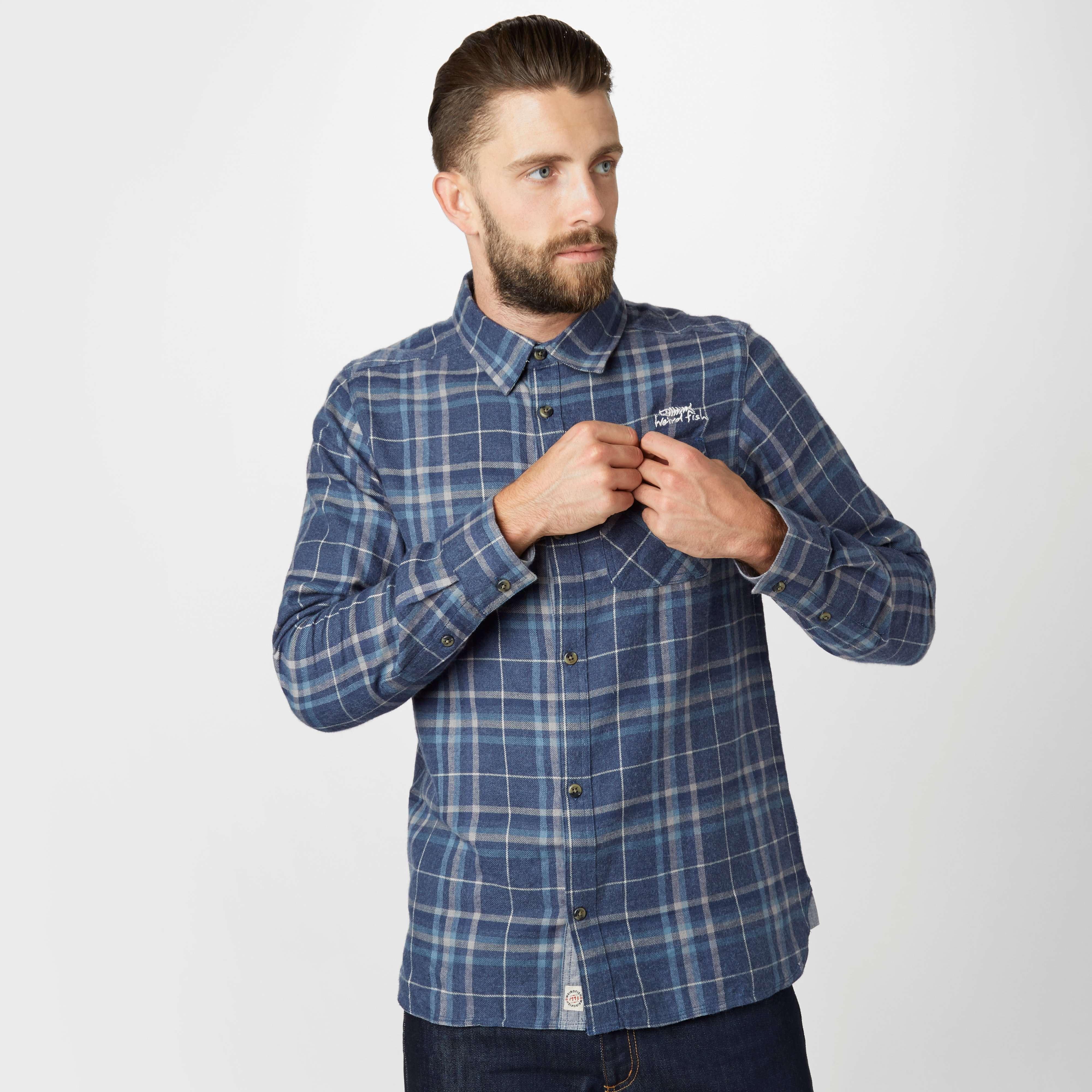 WEIRD FISH Men's Jarret Long Sleeve Shirt