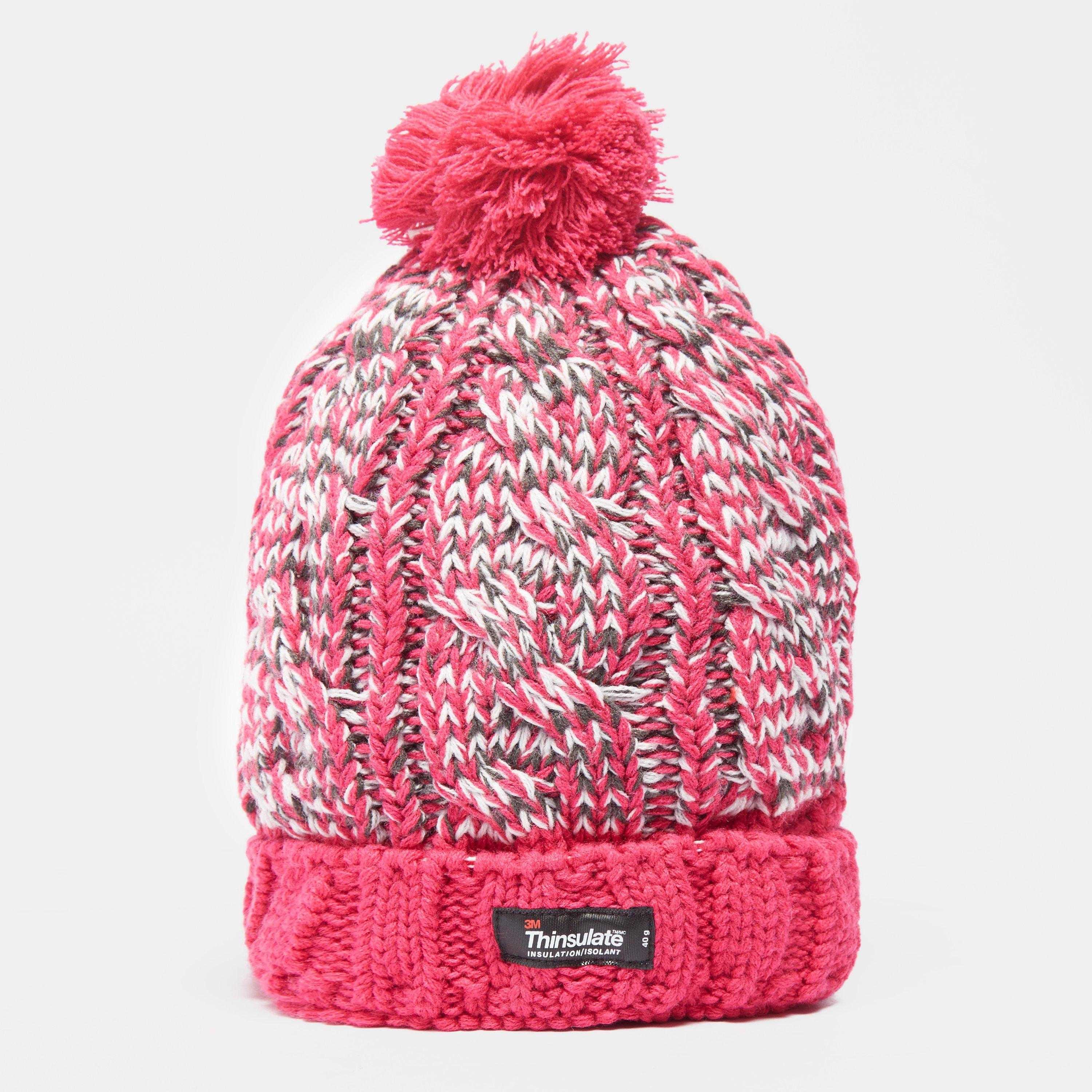 Peter Storm Womens Olivia Waterproof Bobble Hat Pink