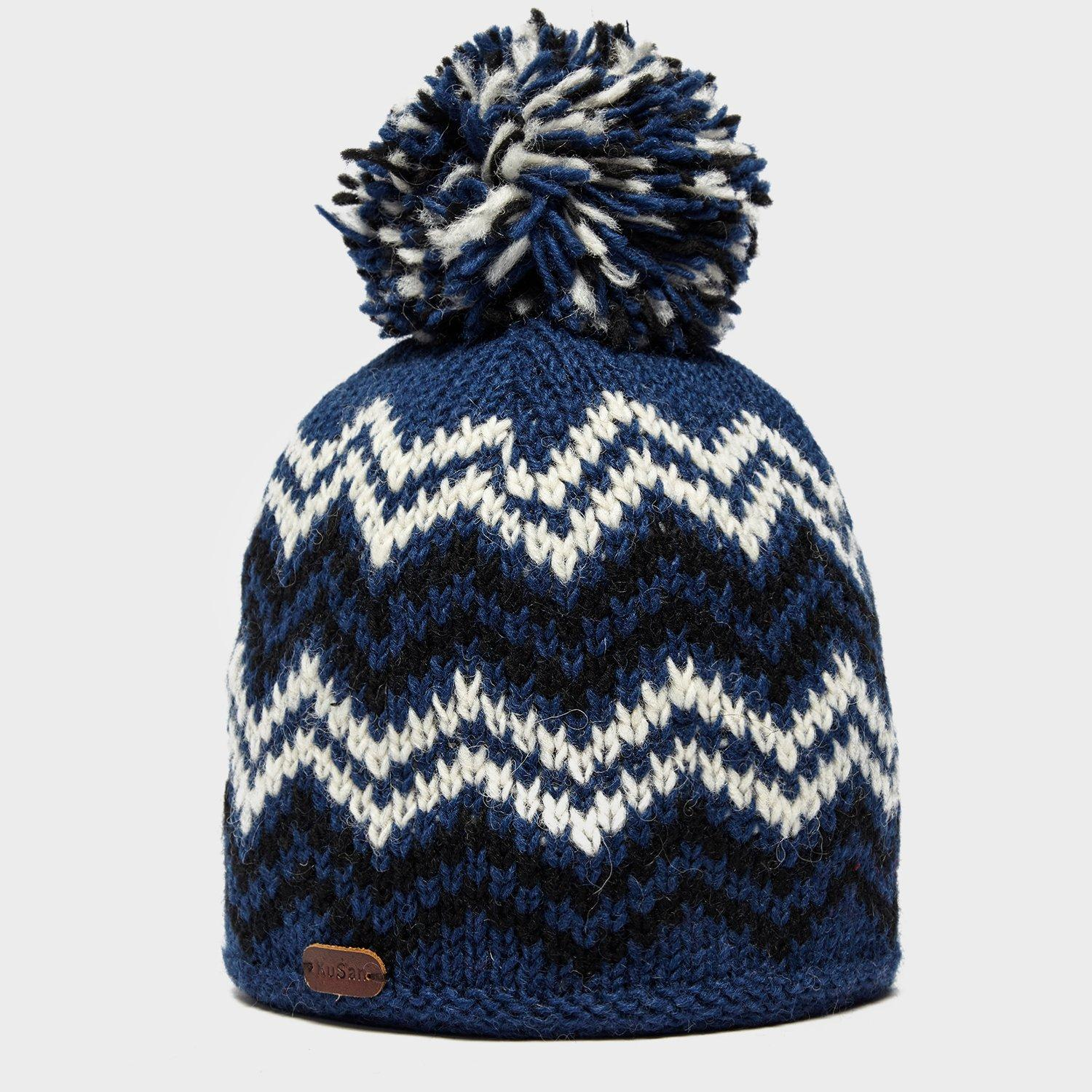 Kusan Mens Bobble Hat Blue