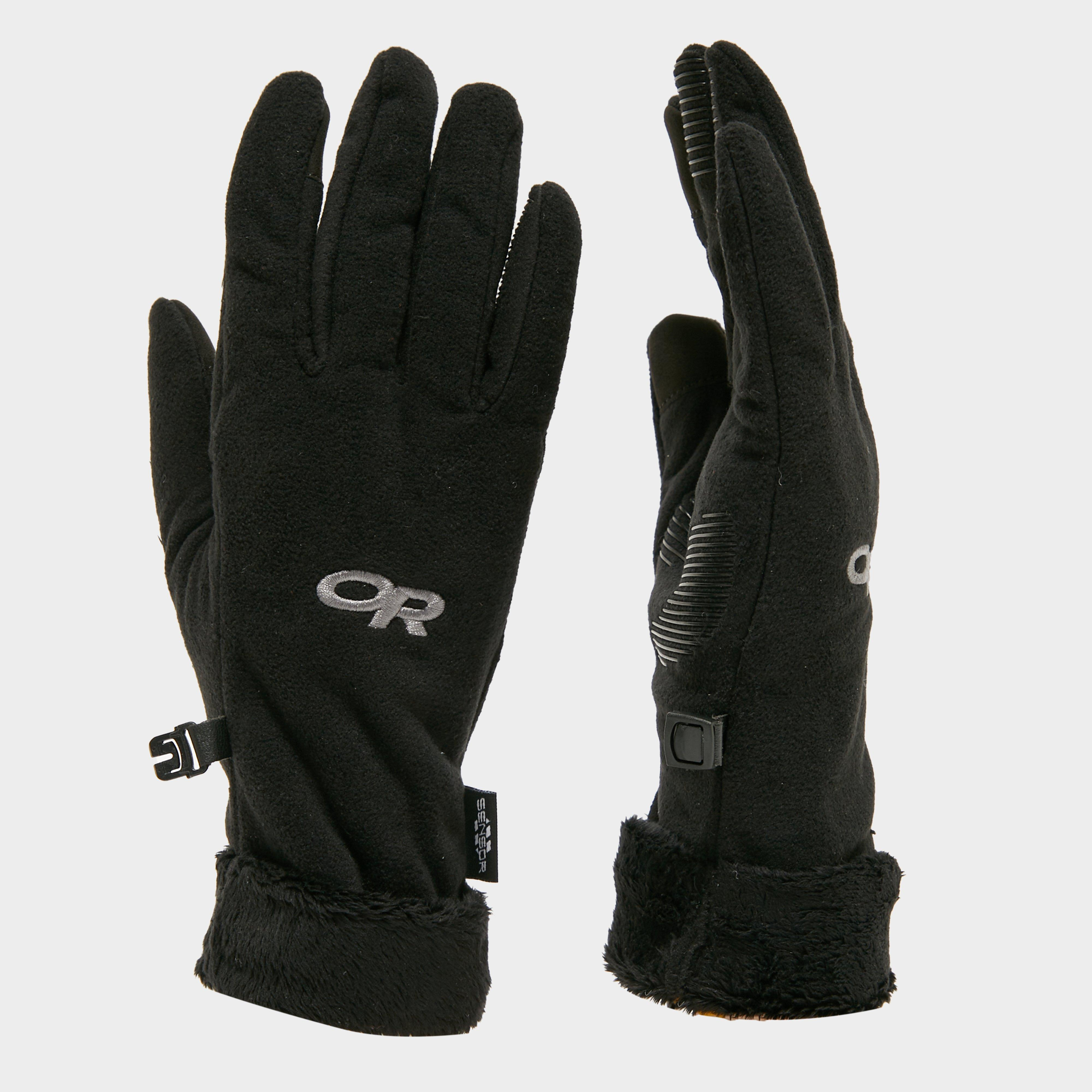 Outdoor Research Women's Fuzzy Sensor Gloves, Black