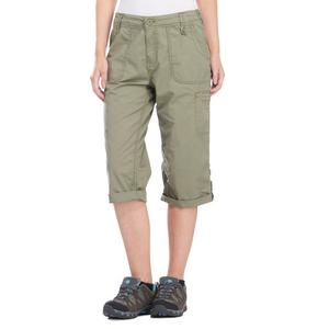 WEIRD FISH Women's Savannah Three Quarter Cotton Utility Shorts