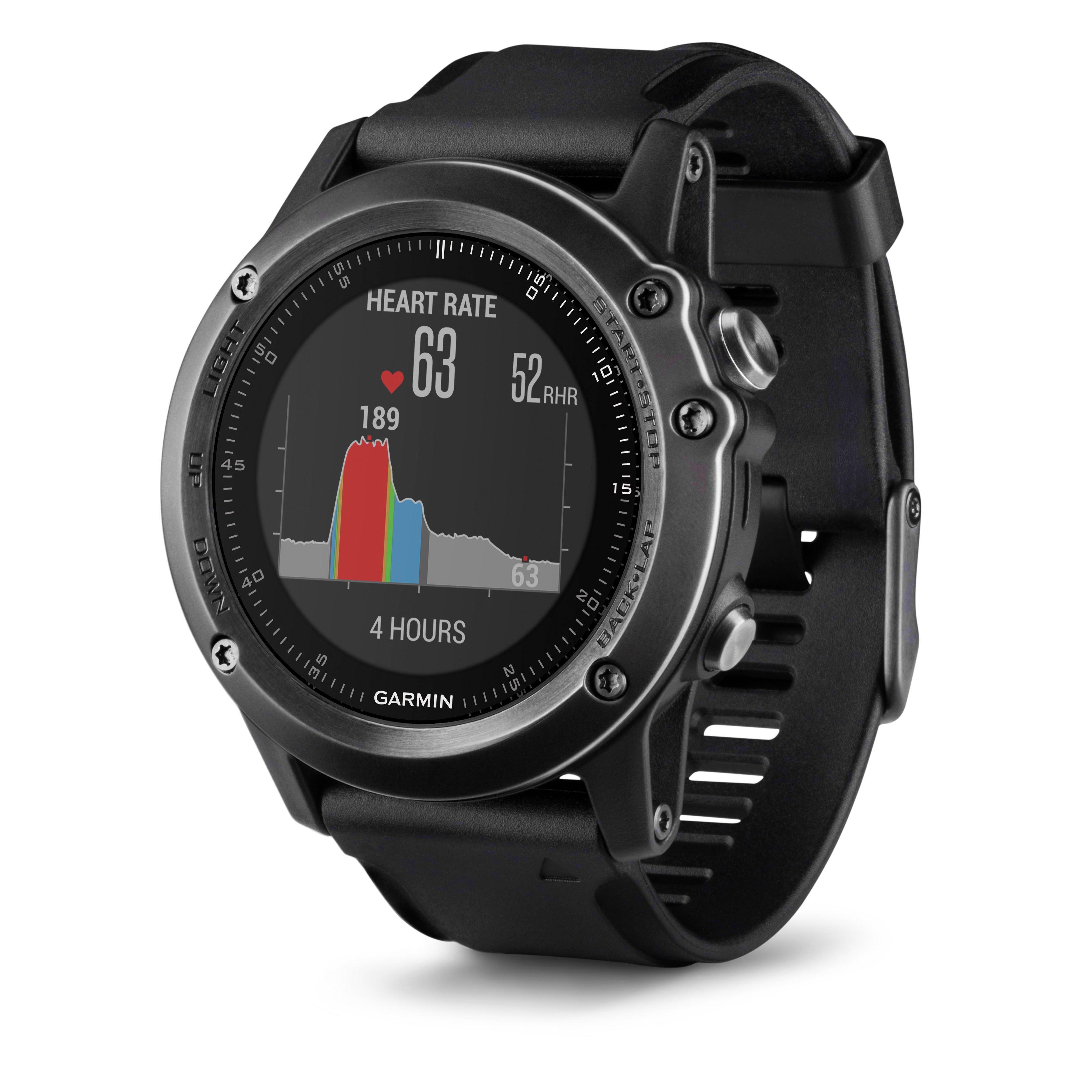 Garmin fenix 3 Sapphire HR Watch Black