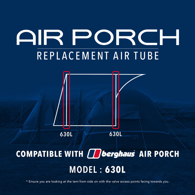 Eurohike Air Porch Replacement Air Tube 630l - Black/630l  Black/630l