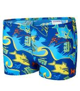 Boys' Seasquad Allover Swimming Shorts