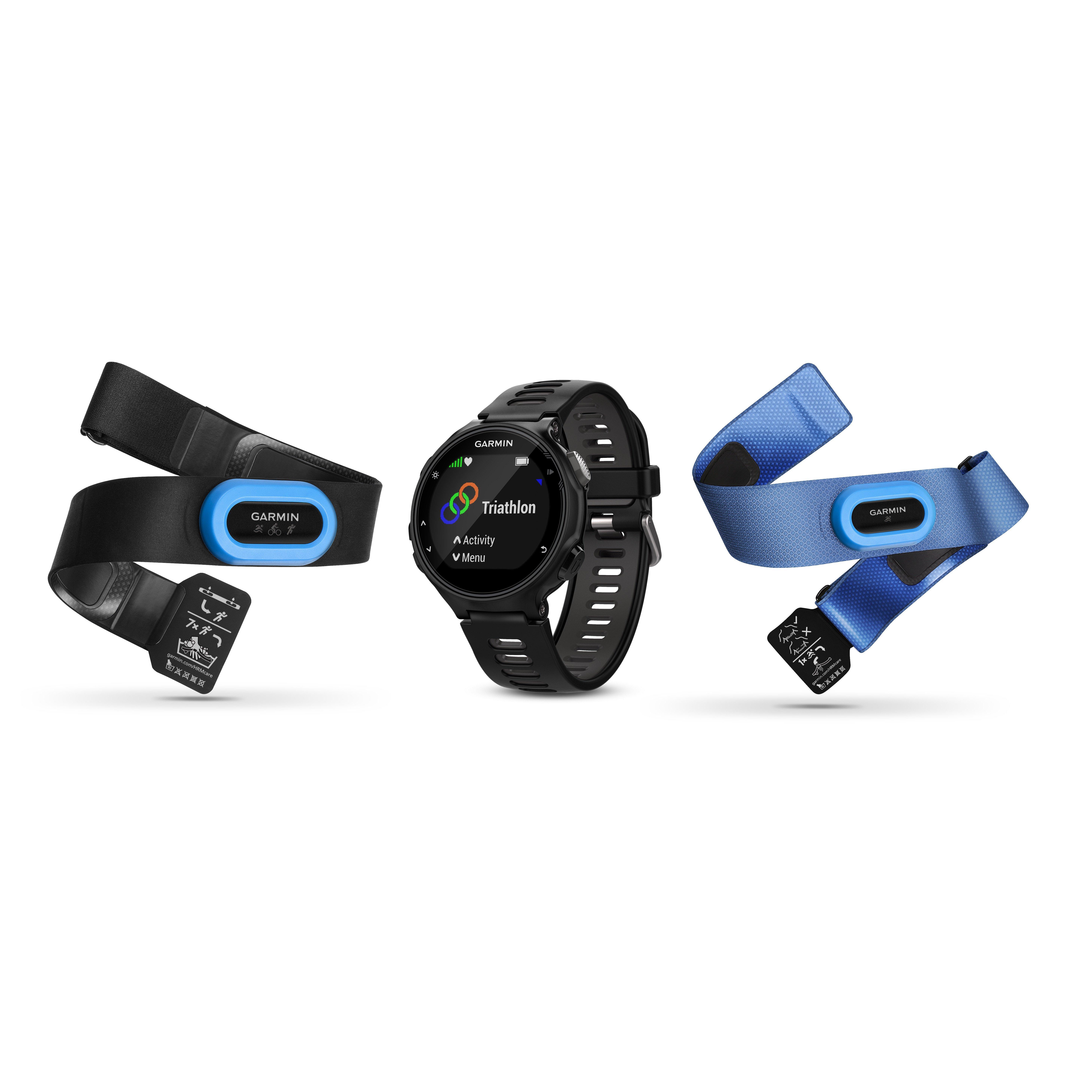 Garmin Forerunner 735XT GPS Running MultiSport Watch Tri Bundle  Black Black