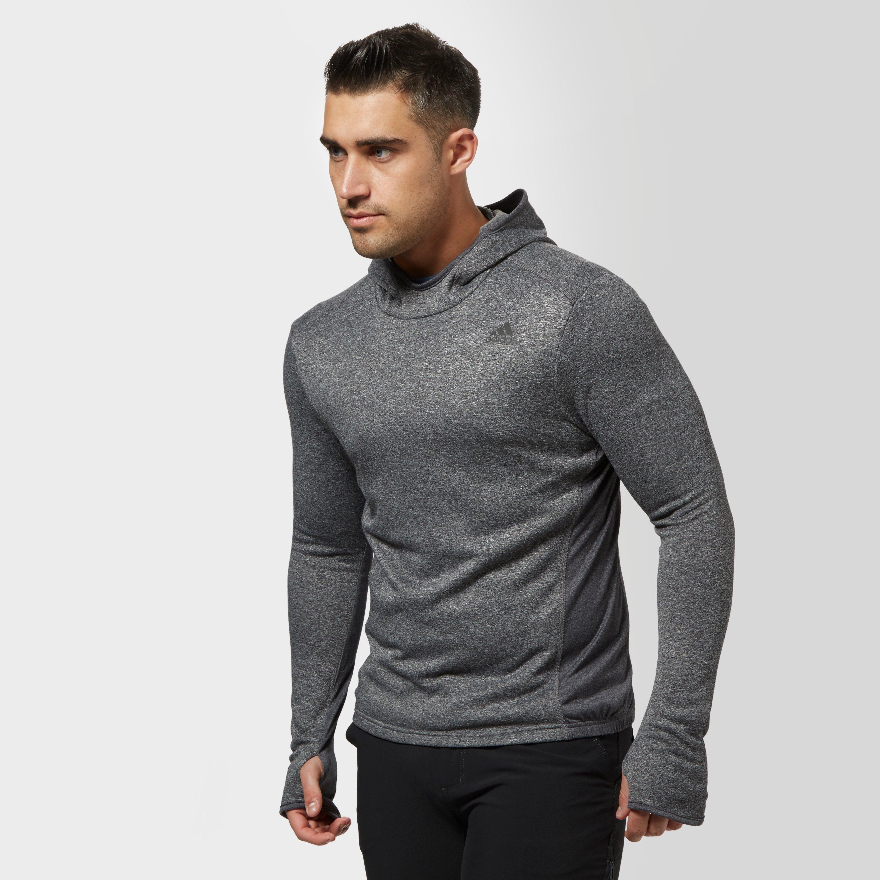 Adidas Mens Response Astro Hoodie Dark Grey