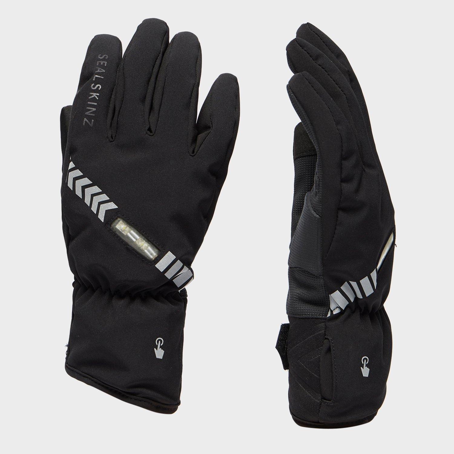Sealskinz Halo All Weather Cycling Gloves - Black, Black