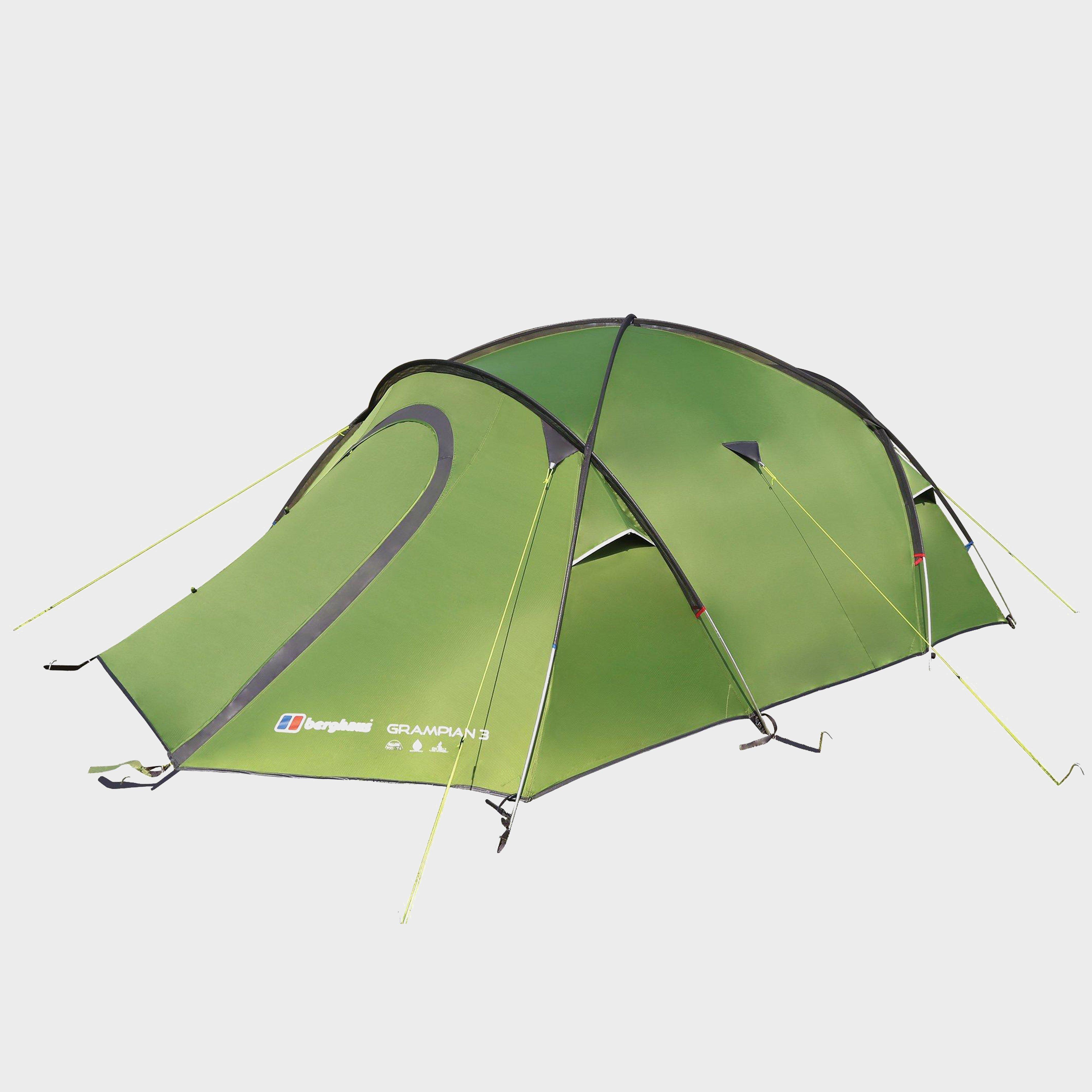 Berghaus Grampian 3 Person Tent, Green