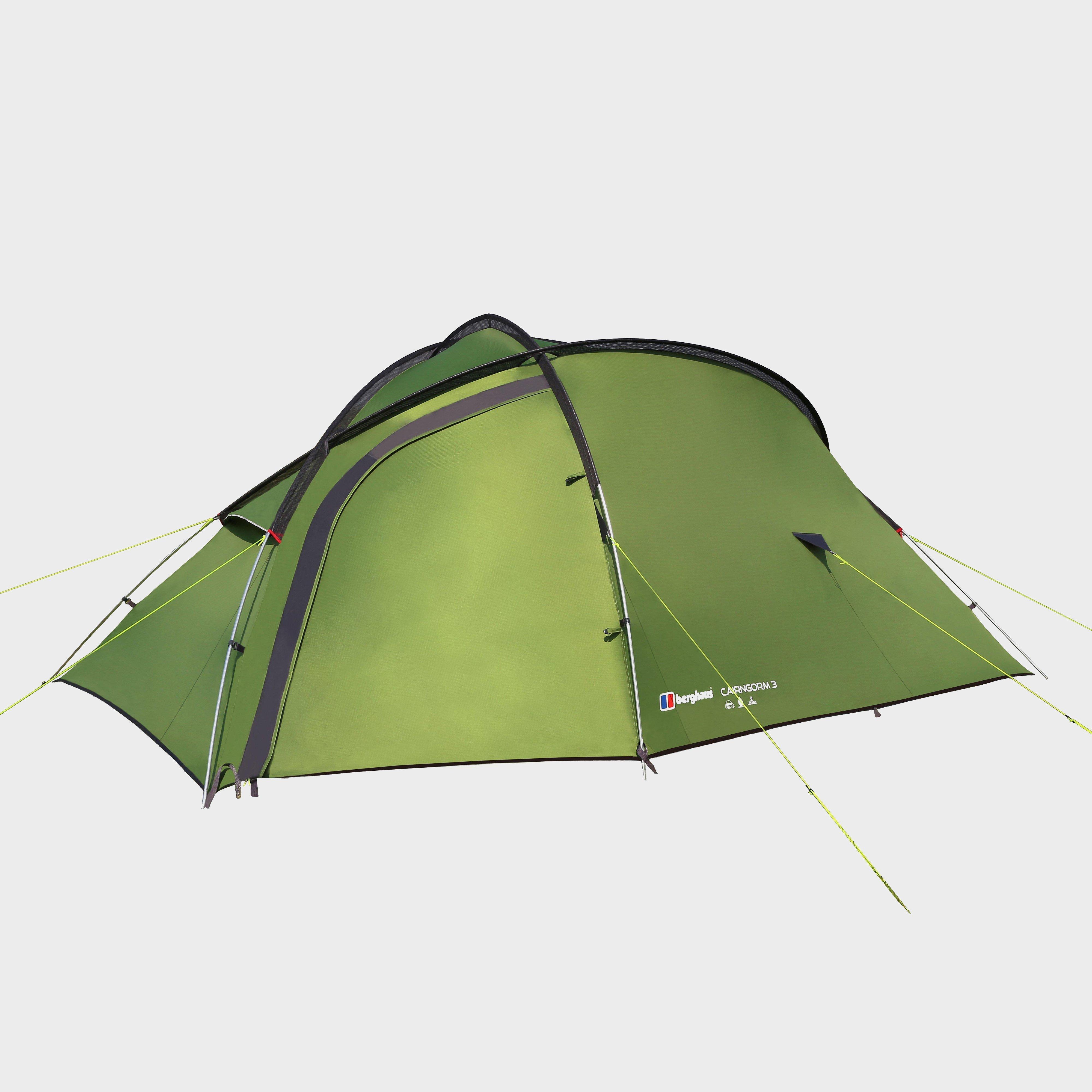Berghaus Cairngorm 3 Man Tent  Green Green