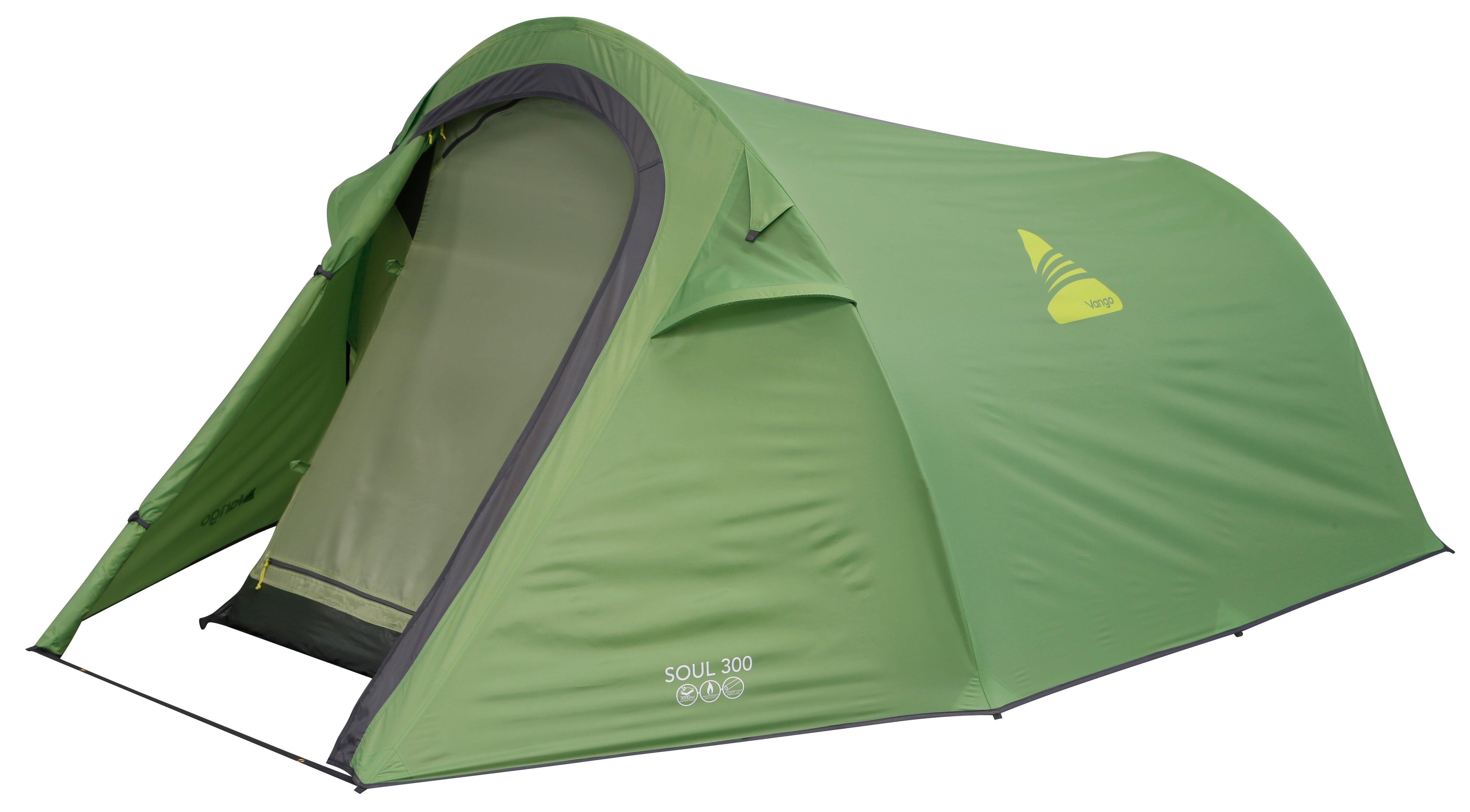 Vango Soul 300 3 Person Tent  Green Green