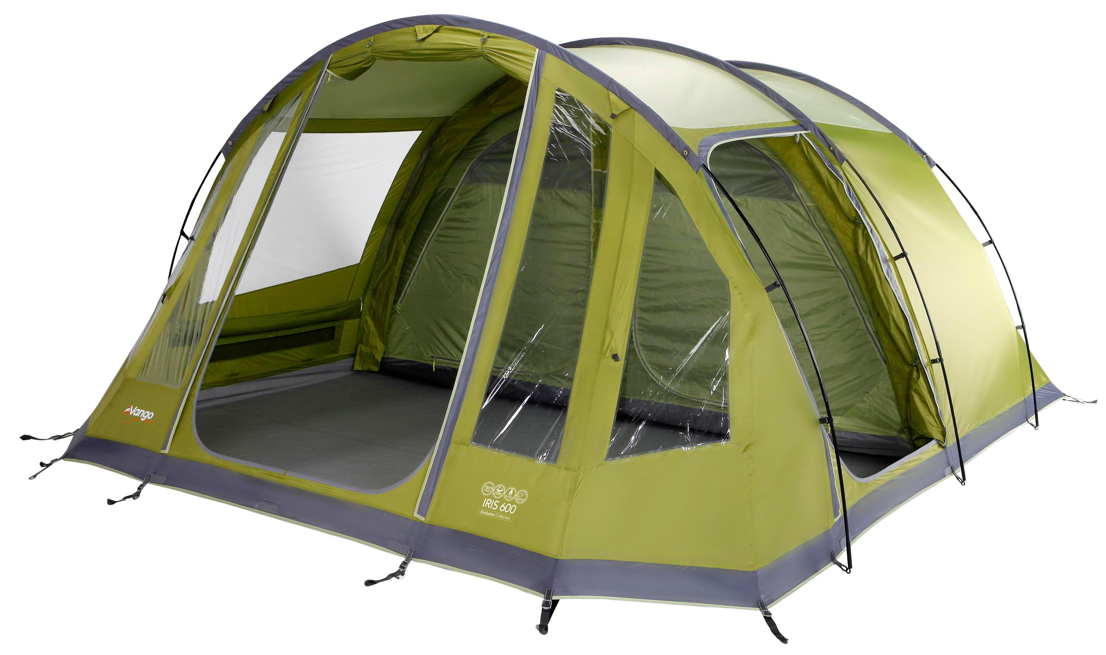 Vango Iris 600 6 Person Tent Green