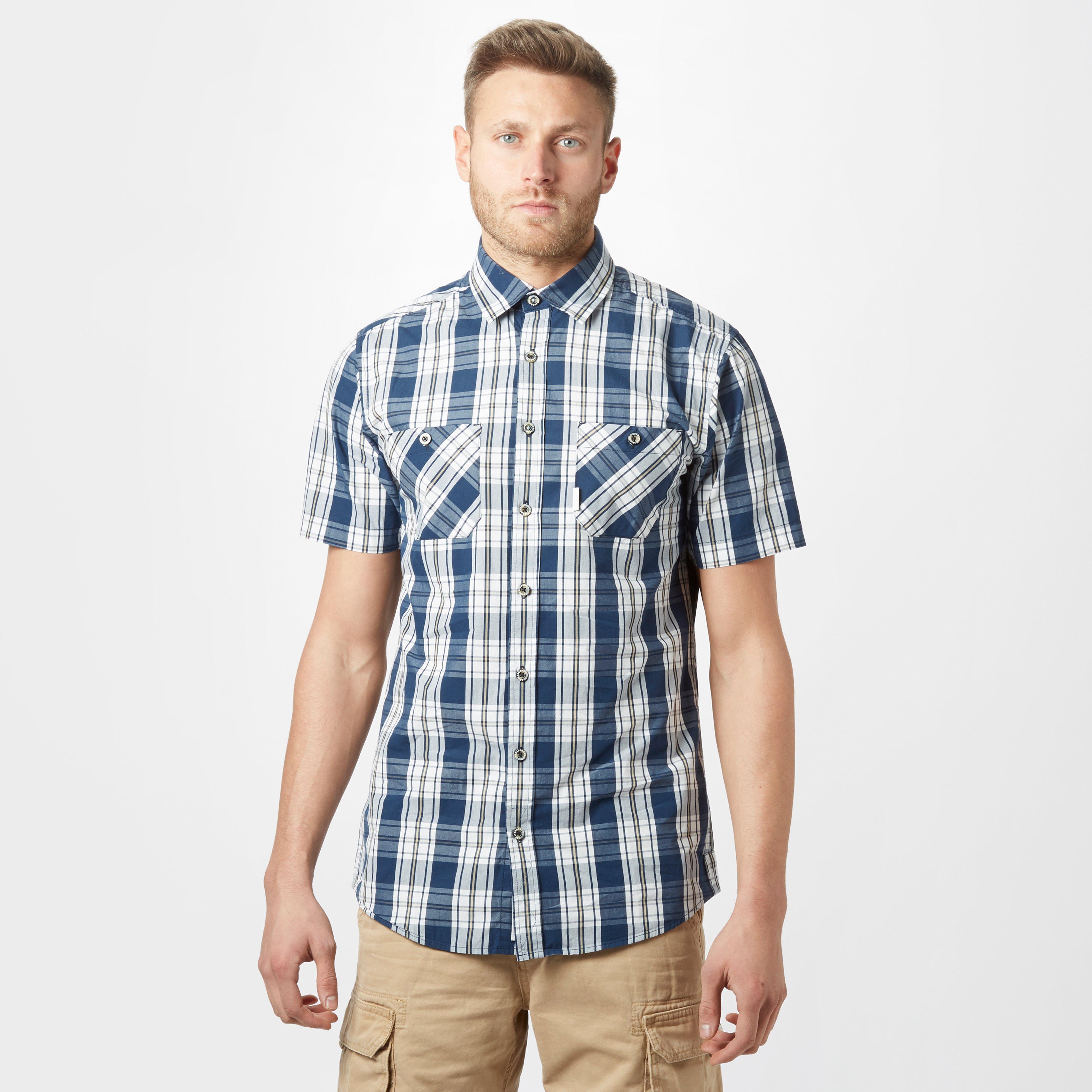 Brakeburn Mens Check Short Sleeve Shirt - Navy/nvy  Navy/nvy