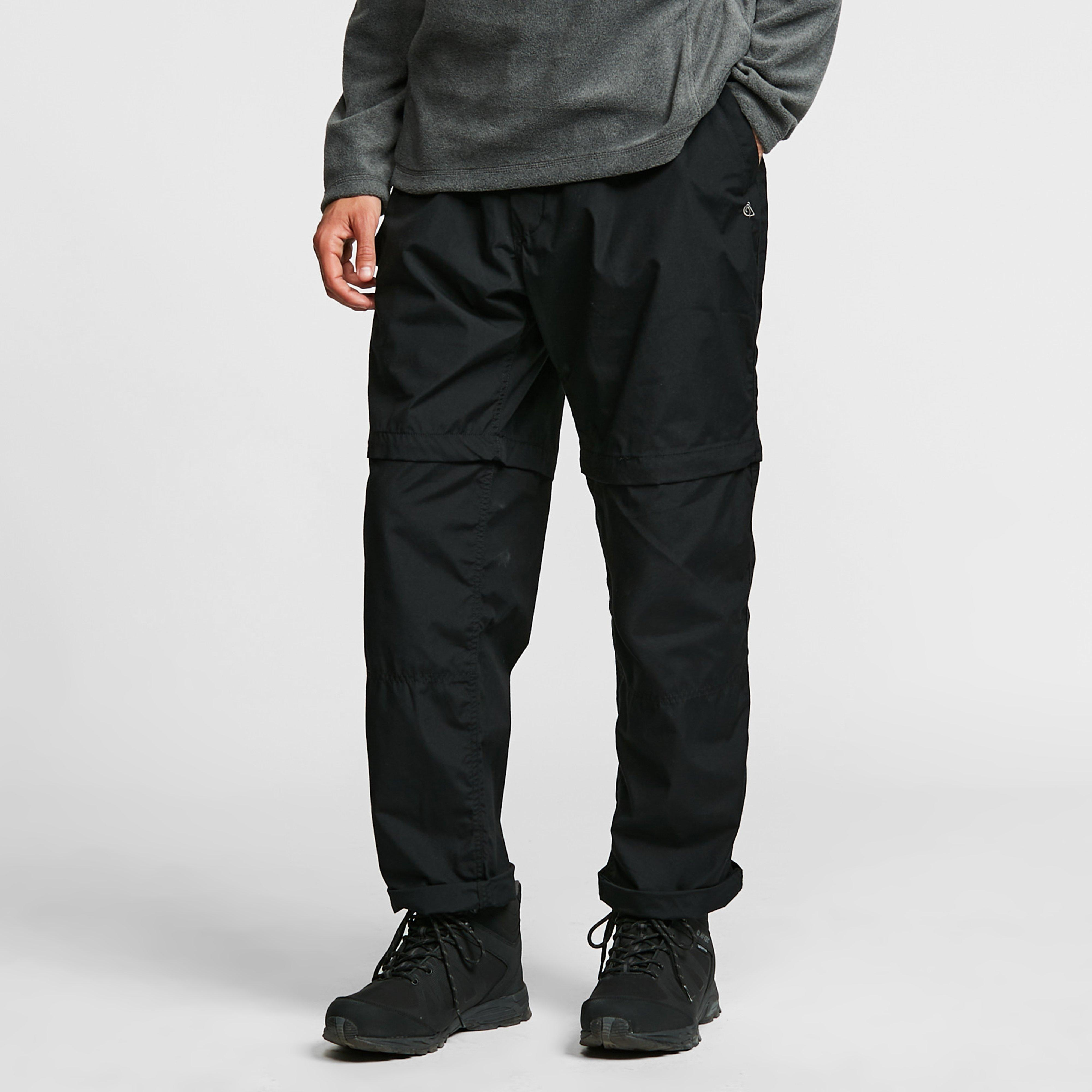 Craghoppers Mens Kiwi Convertible Trousers - Black/black  Black/black