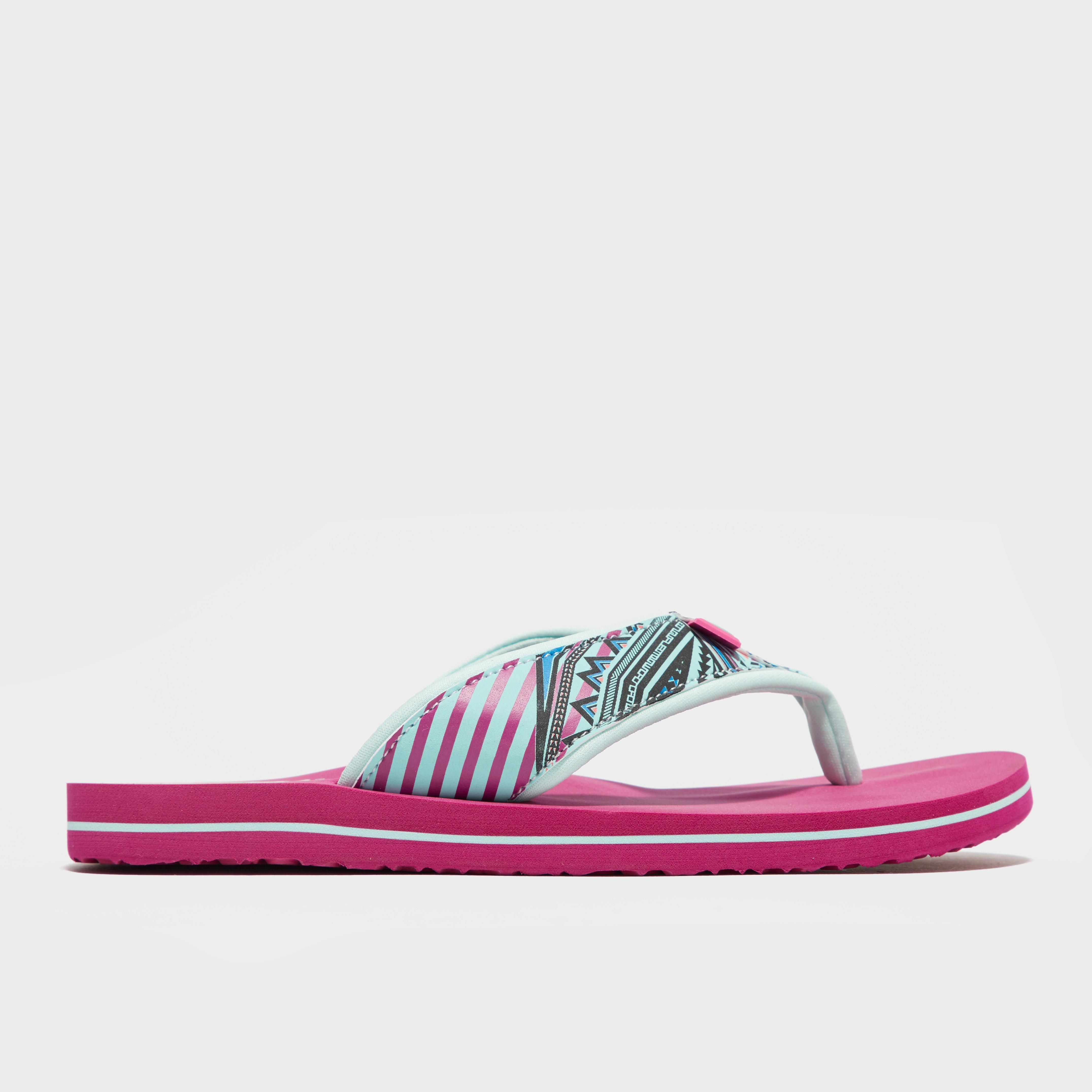 Animal Womens Swish Slim Flip Flops Pink