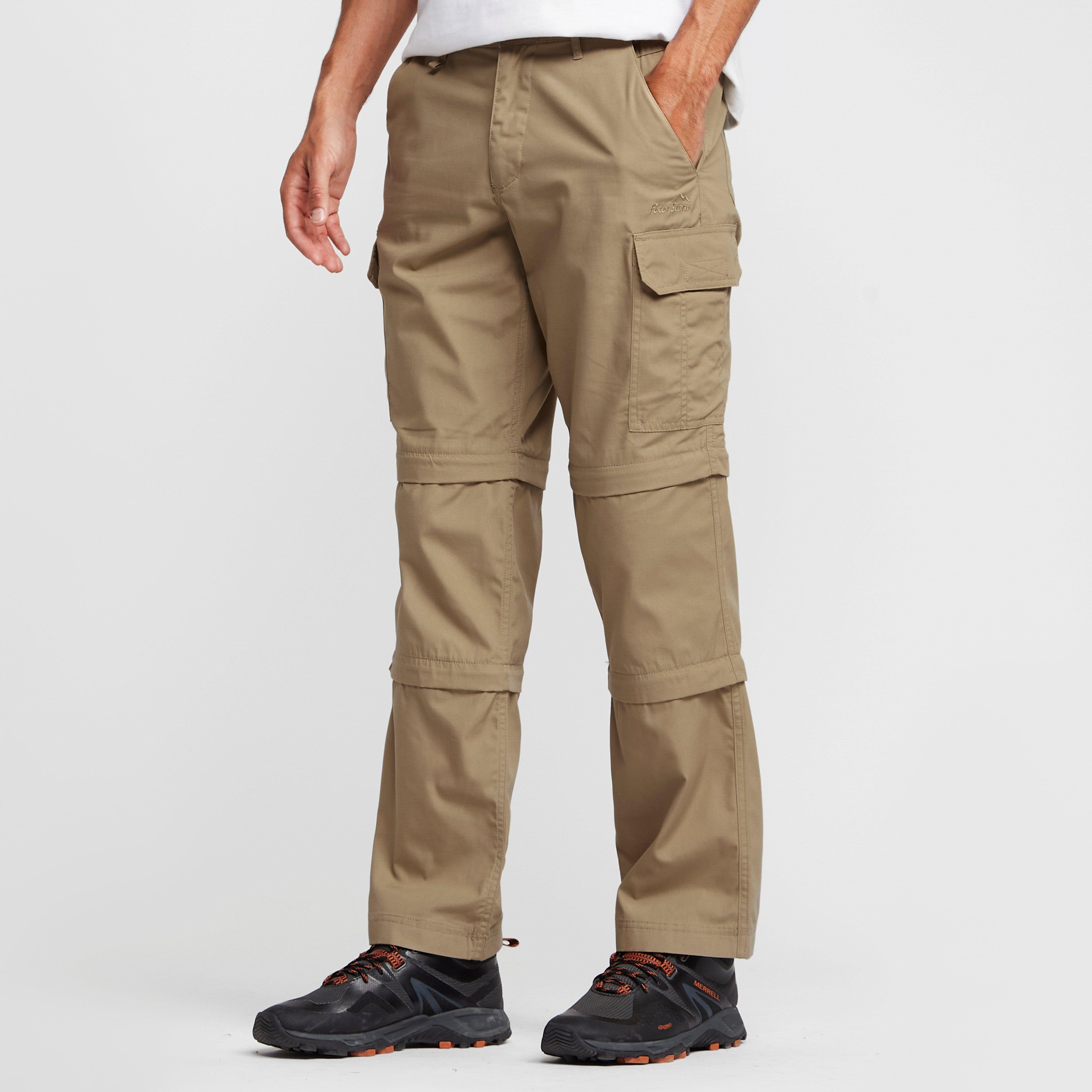Peter Storm Mens Ramble II Double Zip Off Trousers Stone