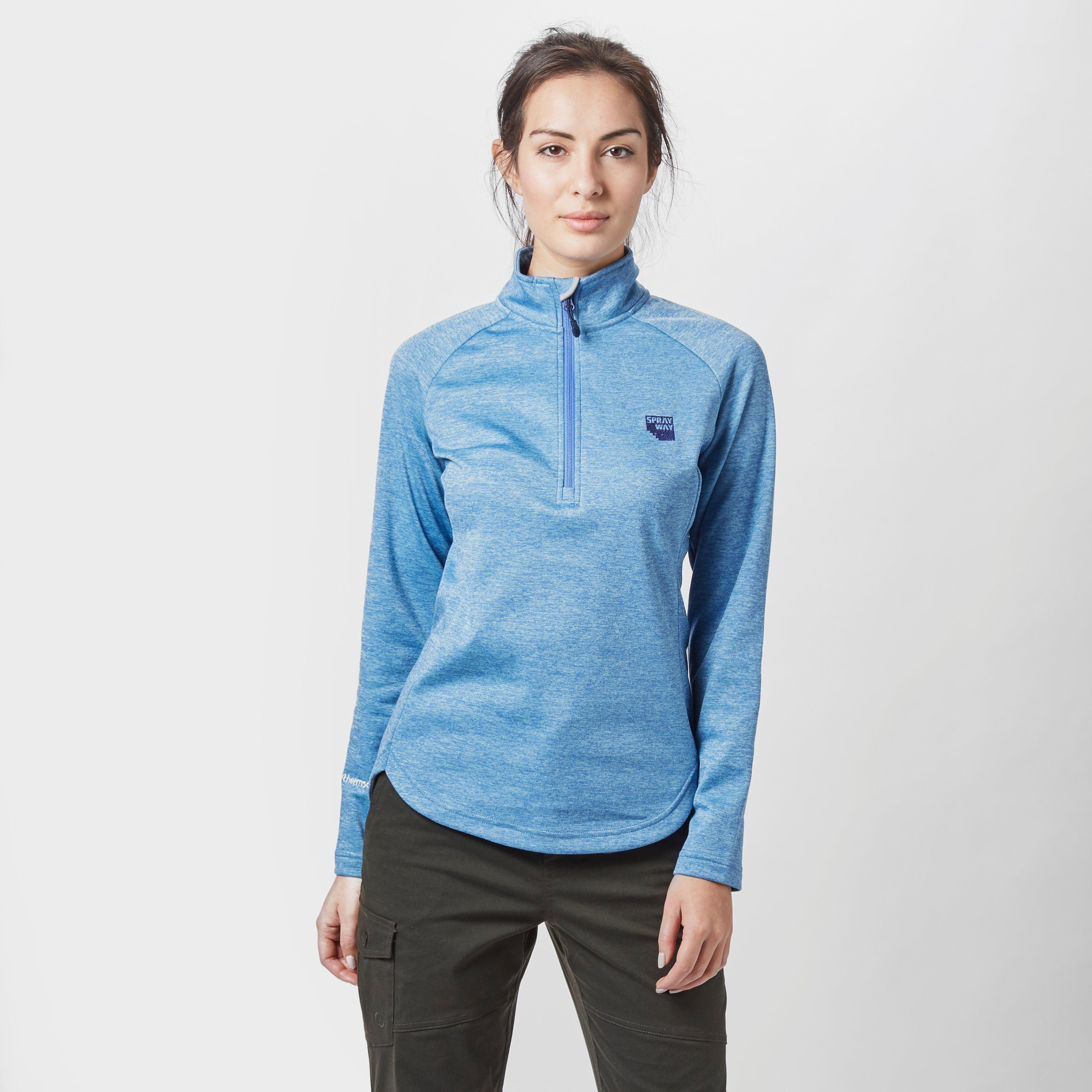 Sprayway Women's Roche Quarter Zip Fleece, Blue