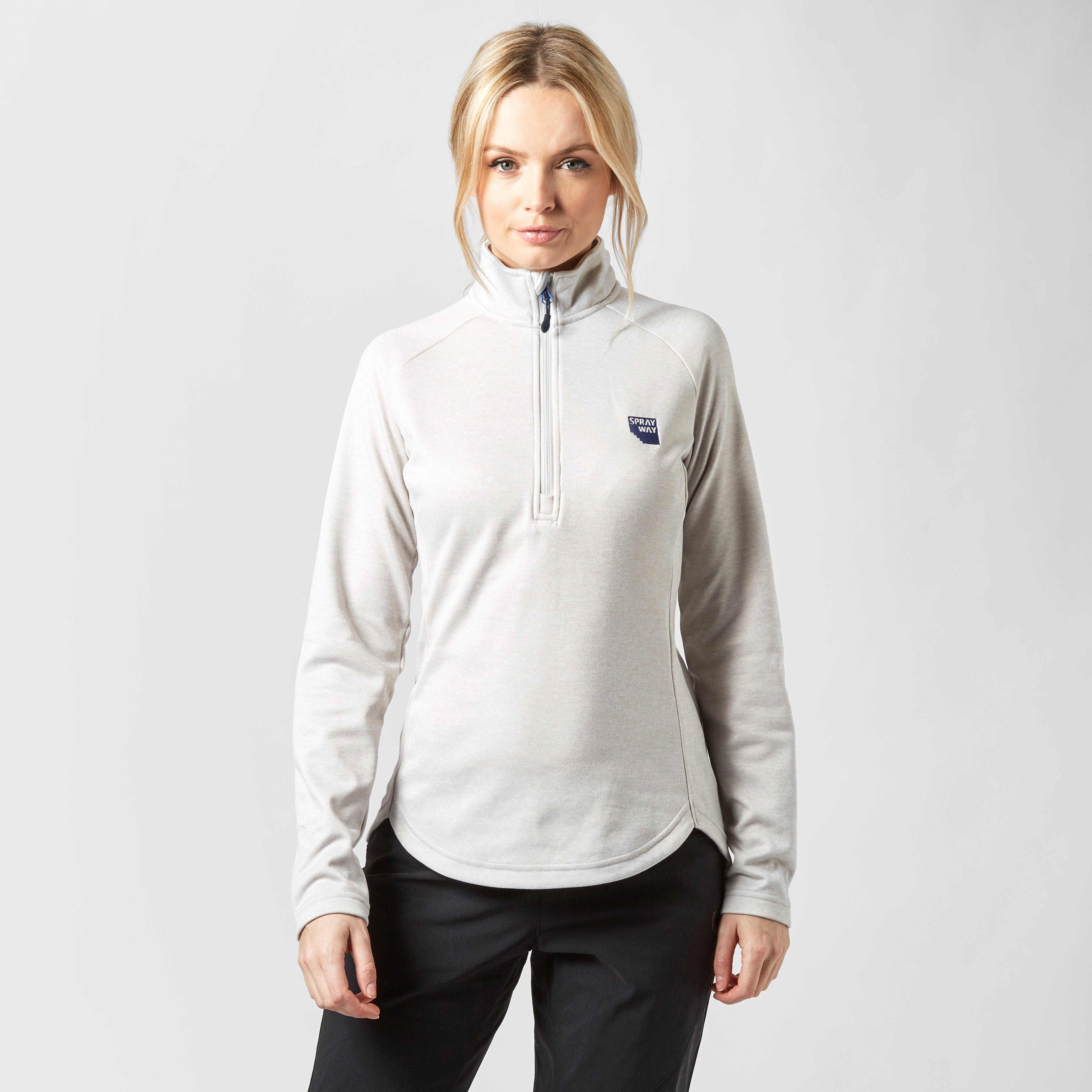 Sprayway Women's Roche Quarter Zip Fleece, Grey