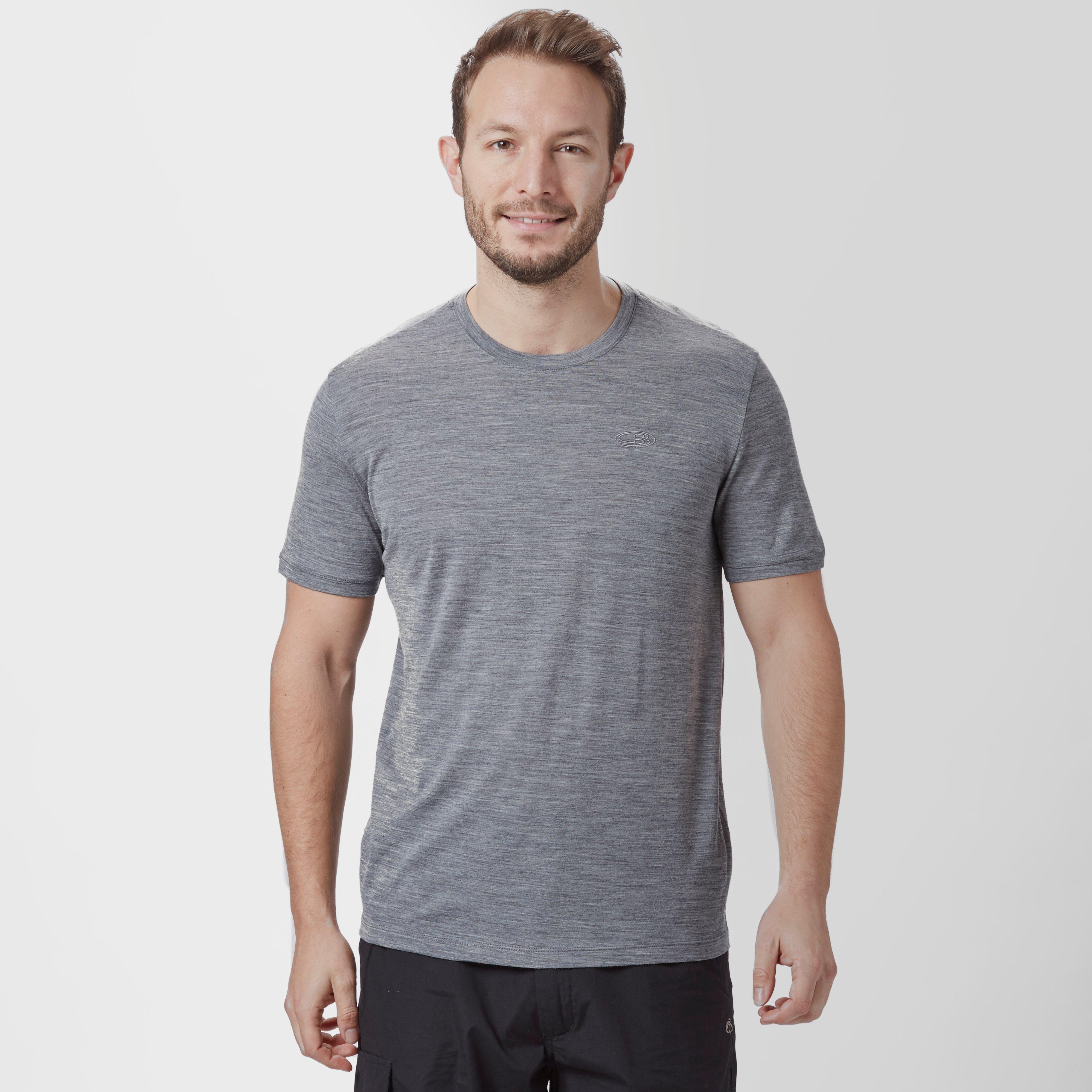 Icebreaker Mens Tech Lite Short Sleeve TShirt Mid Grey