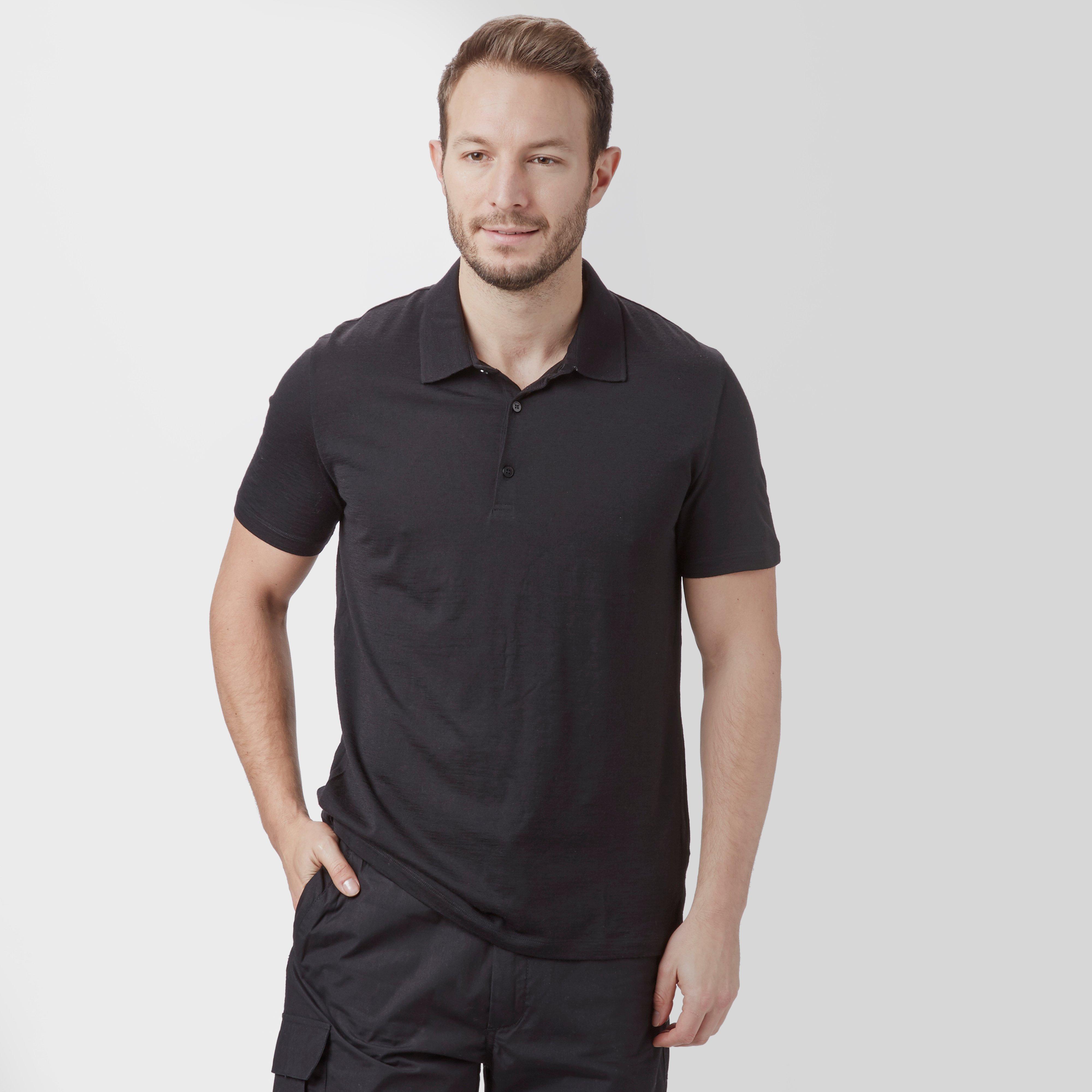 Icebreaker Mens Tech Lite Short Sleeve Polo Black