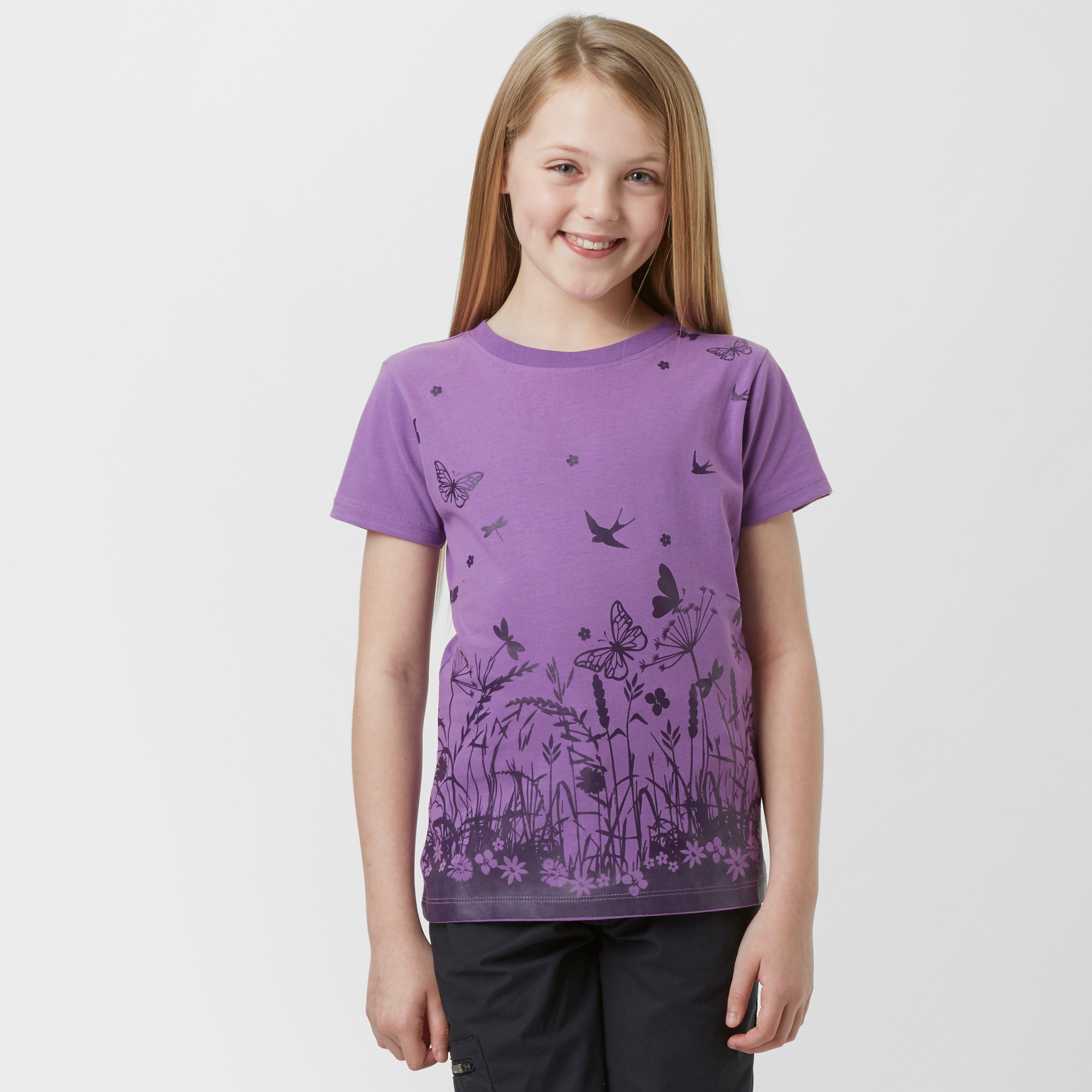 PETER STORM Girl's Border Floral T-Shirt
