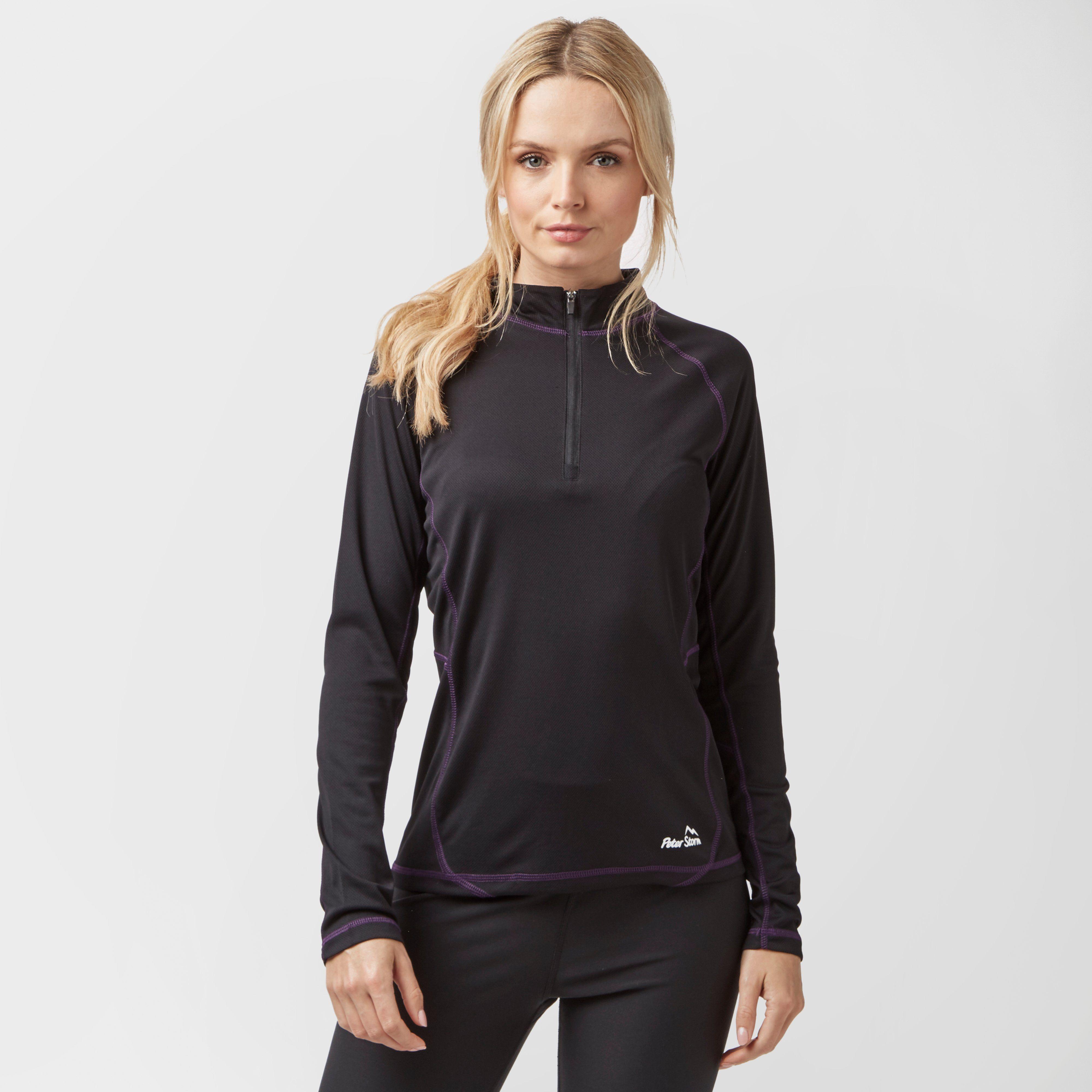 PETER STORM Women's Long Sleeve Quarter-Zip Tech Top