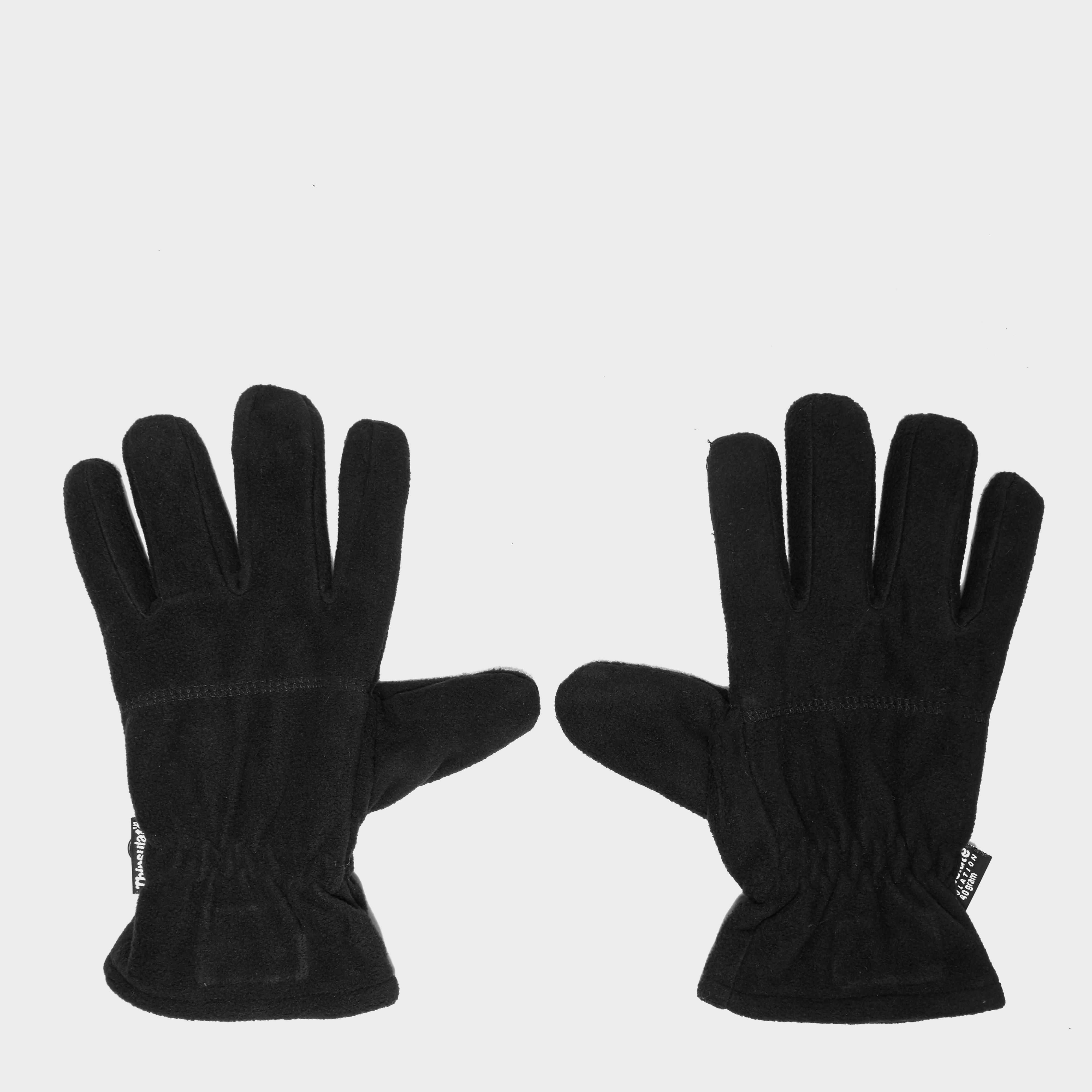 Thinsulate Unisex Fleece Gloves - Black, Black