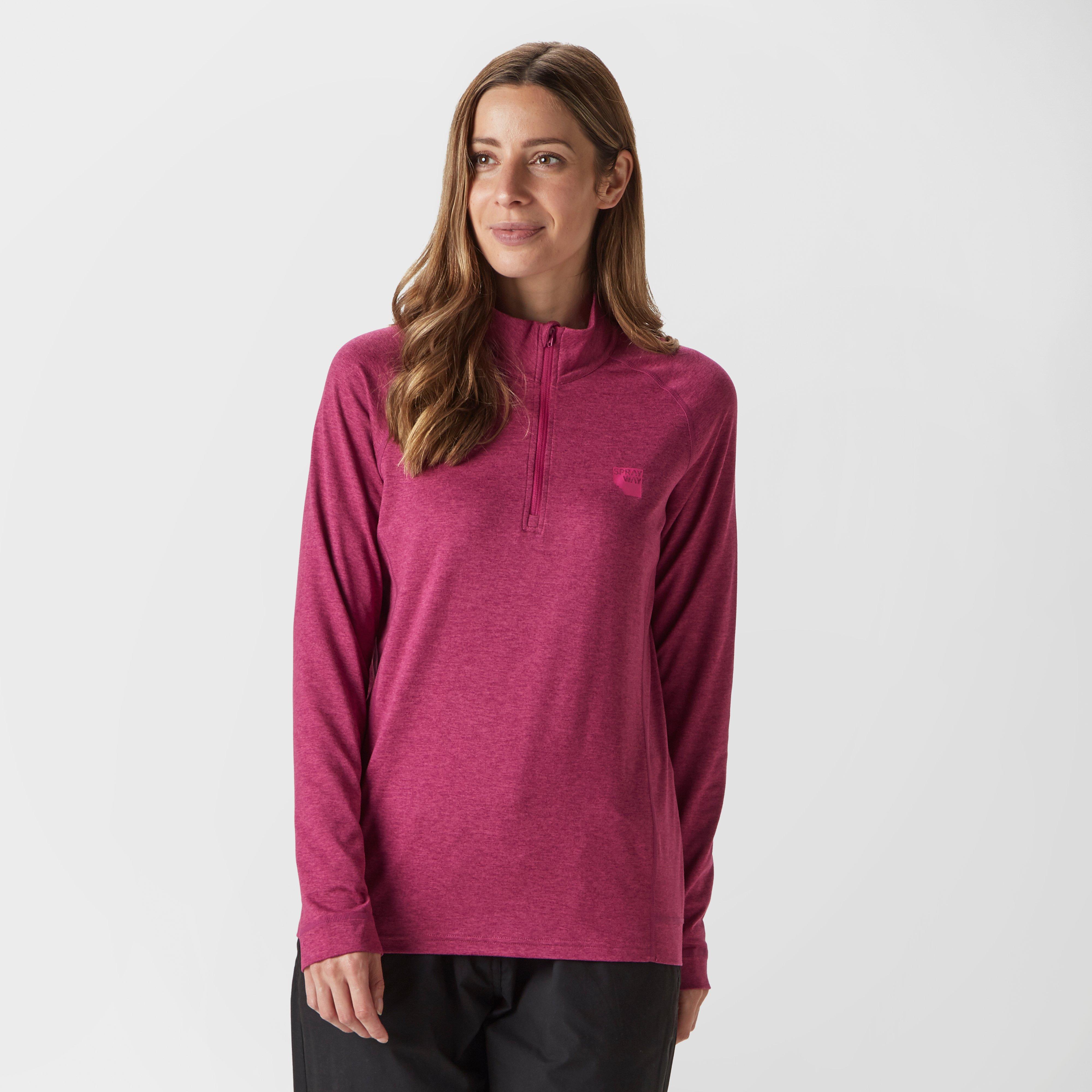 Sprayway Women's Tiana Quarter-Zip Fleece, Pink