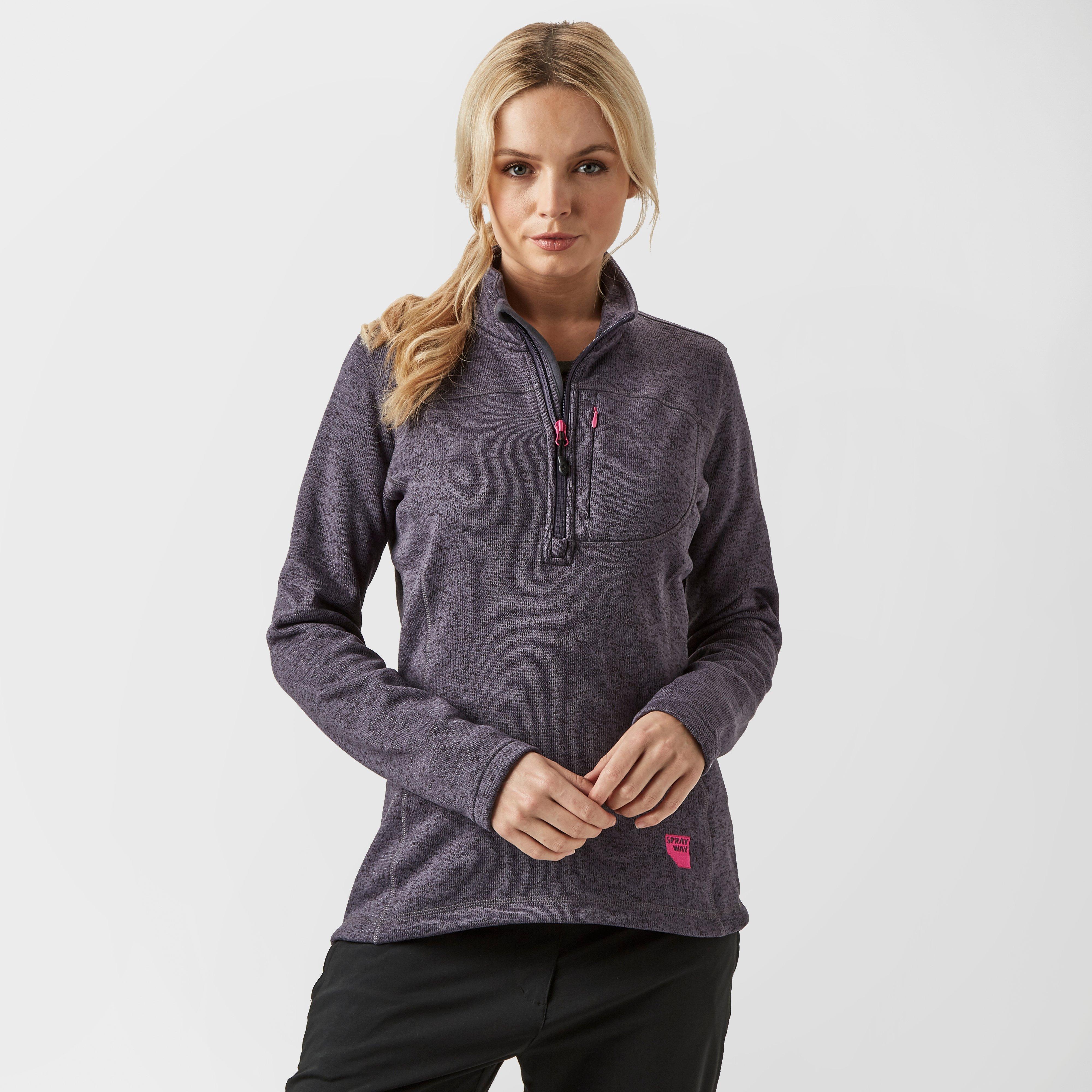 Sprayway Women's Kiso Half-Zip Fleece, Grey