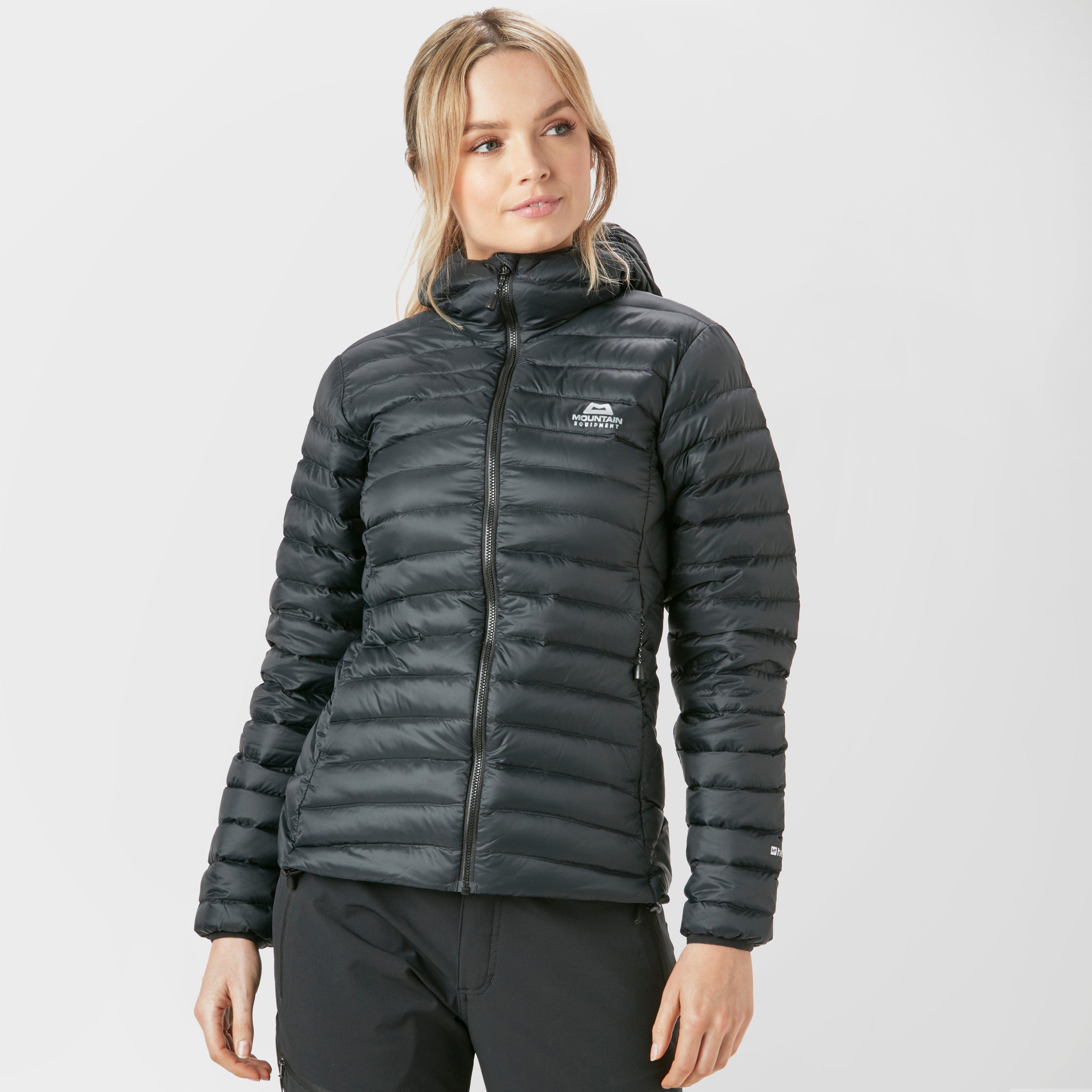Mountain Equipment Women's Arete Hooded Down Jacket, Black