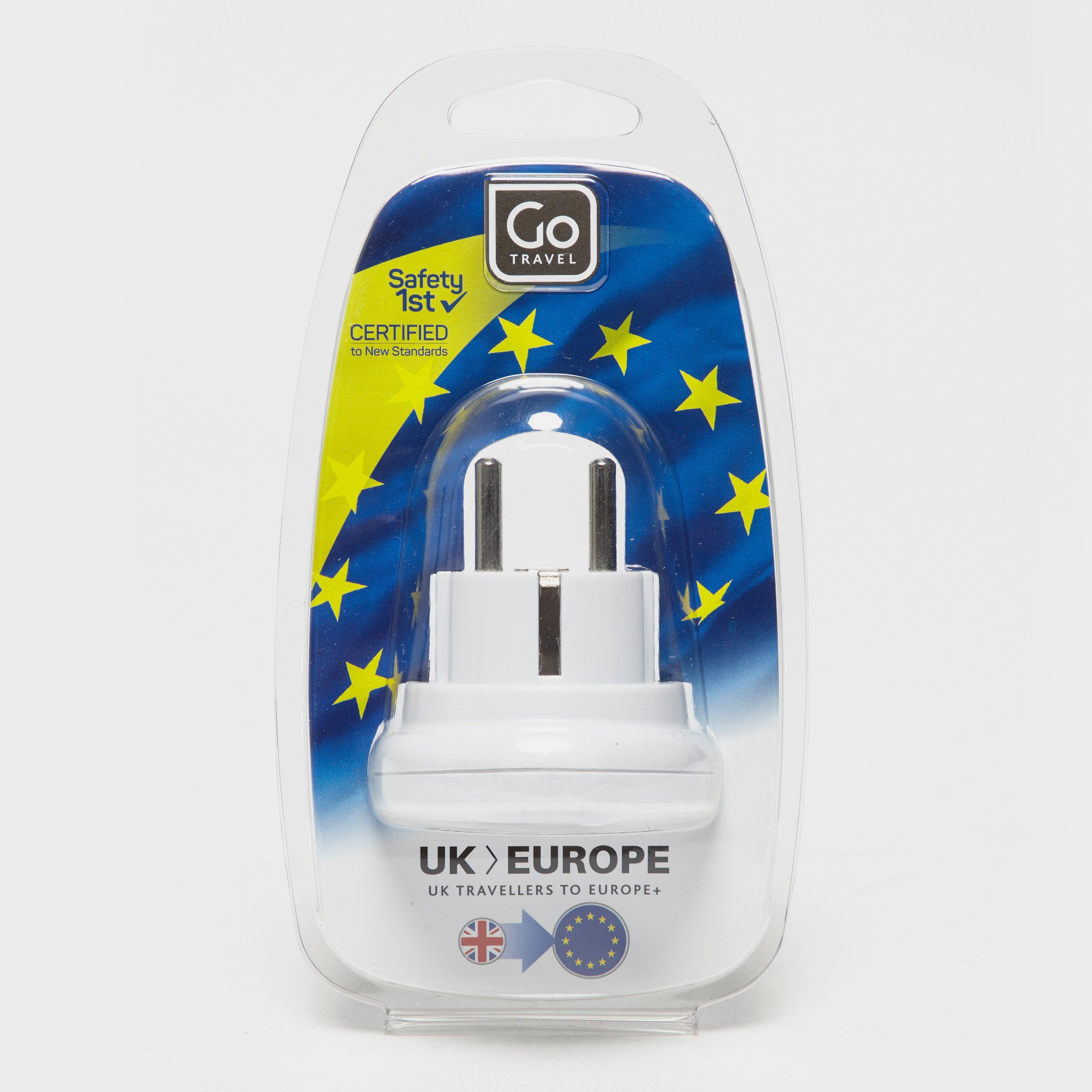 Design Go UK-EU Adaptor, White