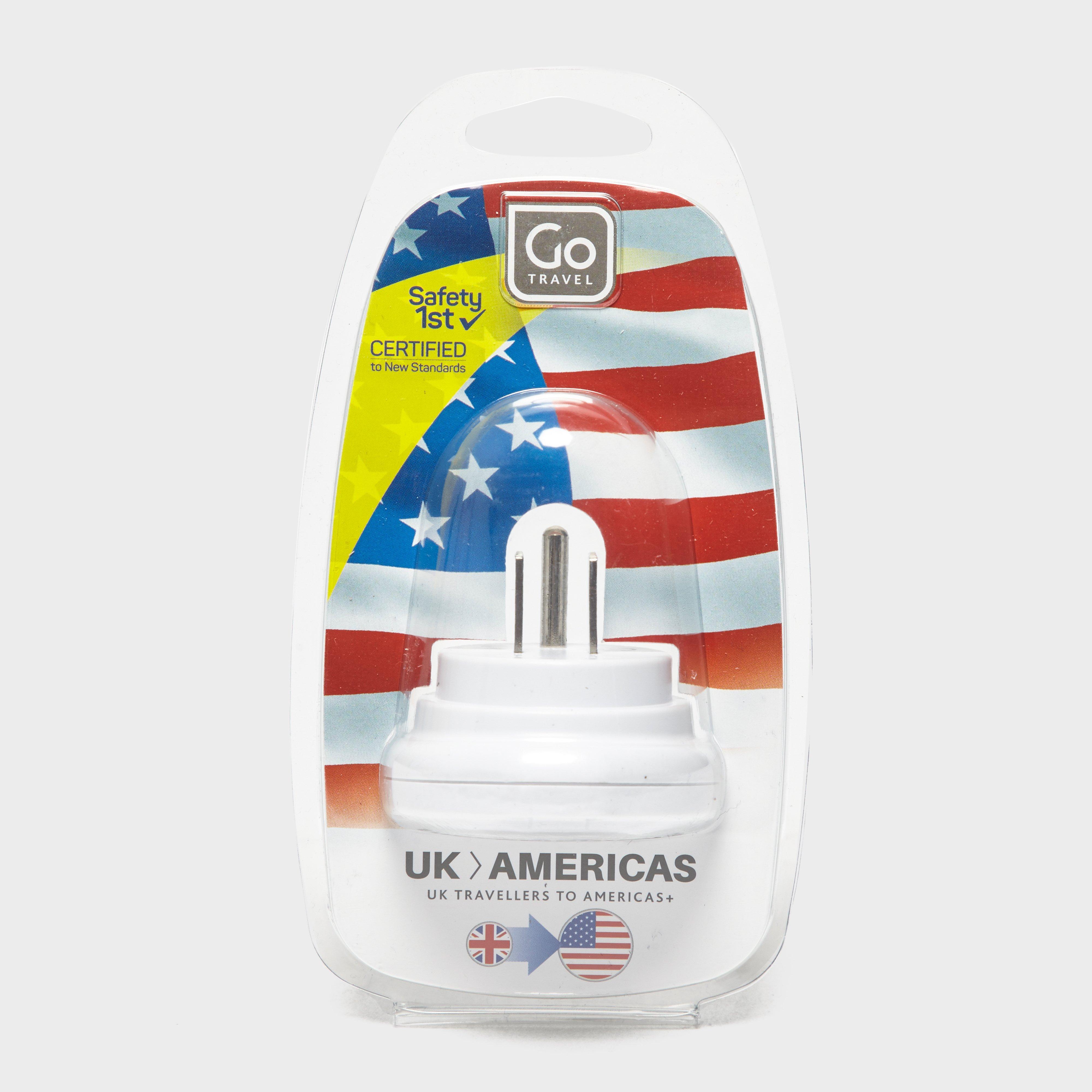 Design Go UK-USA Adaptor, White