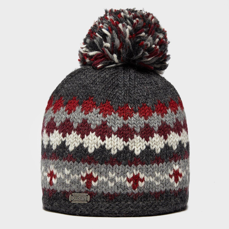 KUSAN Men's Fairisle Bobble Hat