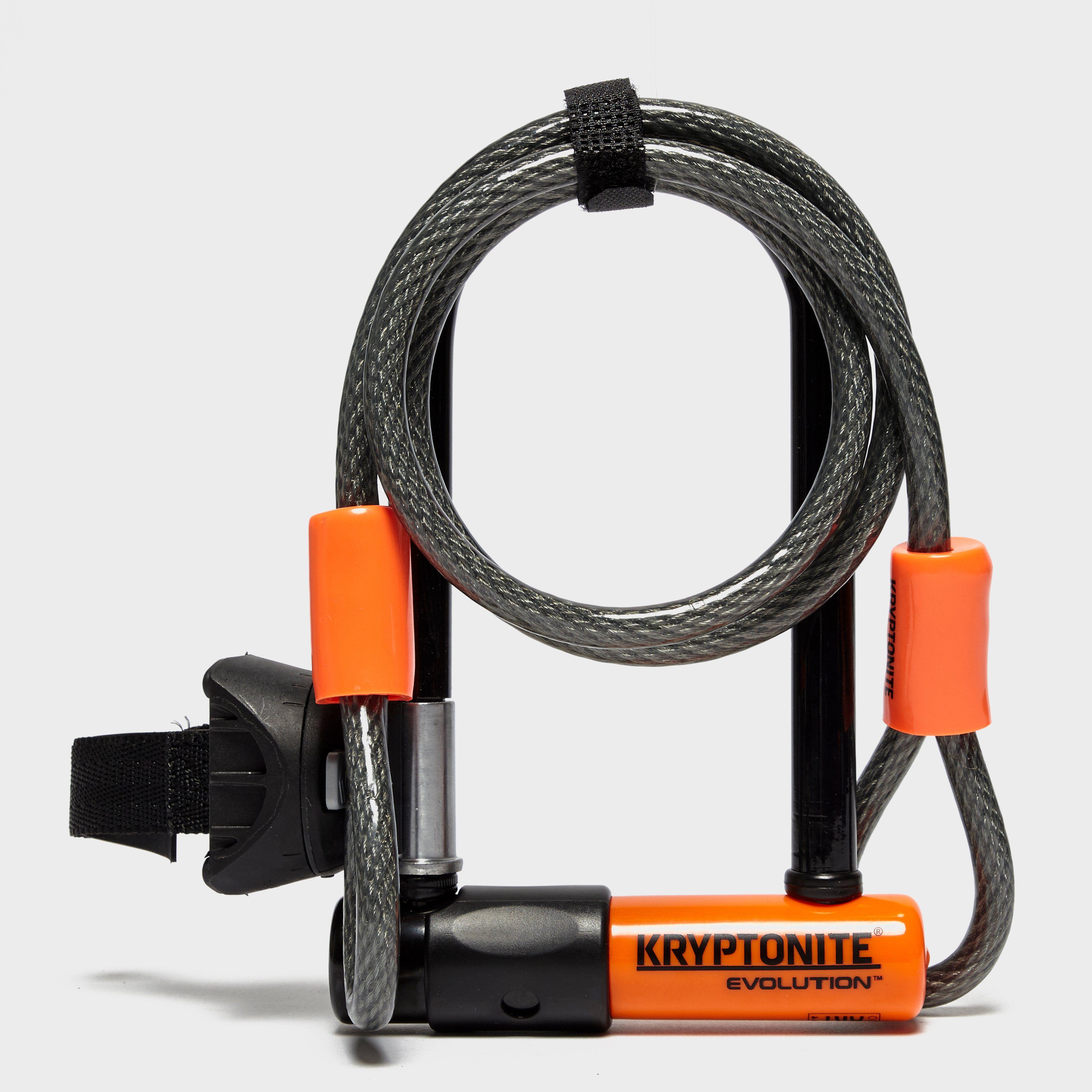 KRYPTONITE Evolution Mini 7 Lock with 4 Foot Kryptoflex Cable Combo