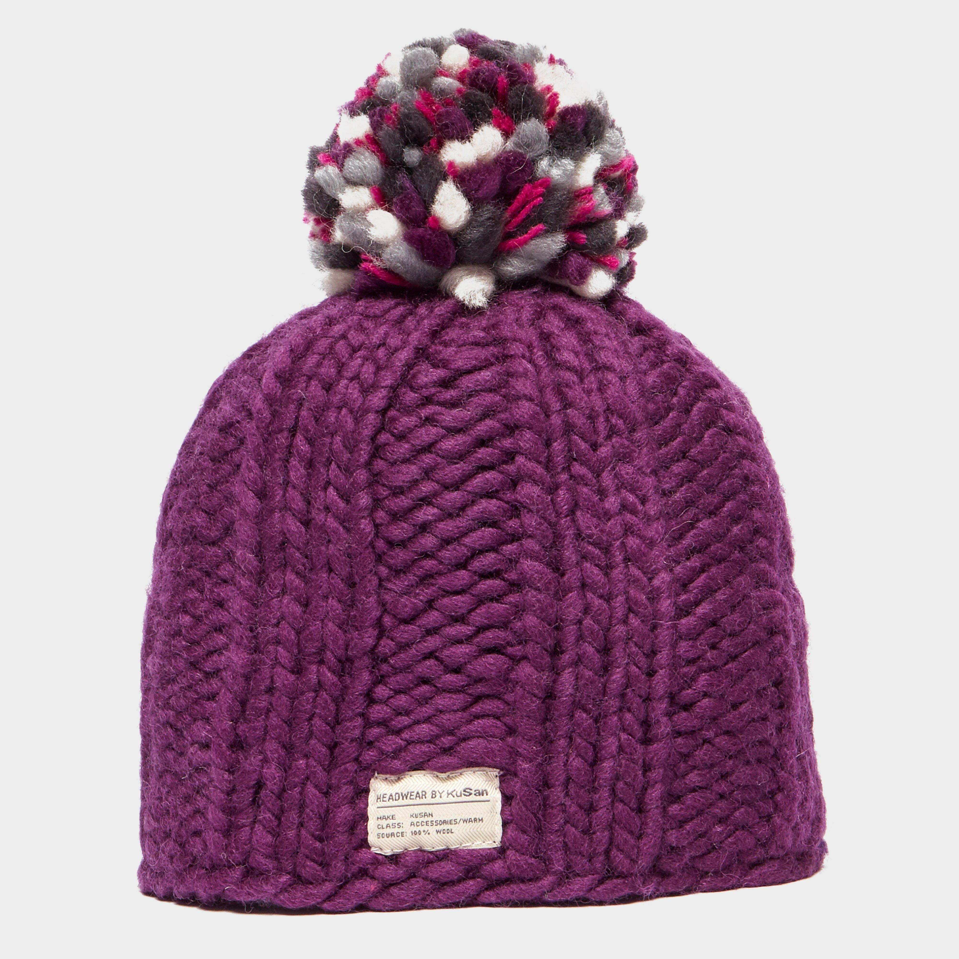Kusan Women's Beauty Bobble Hat, Purple
