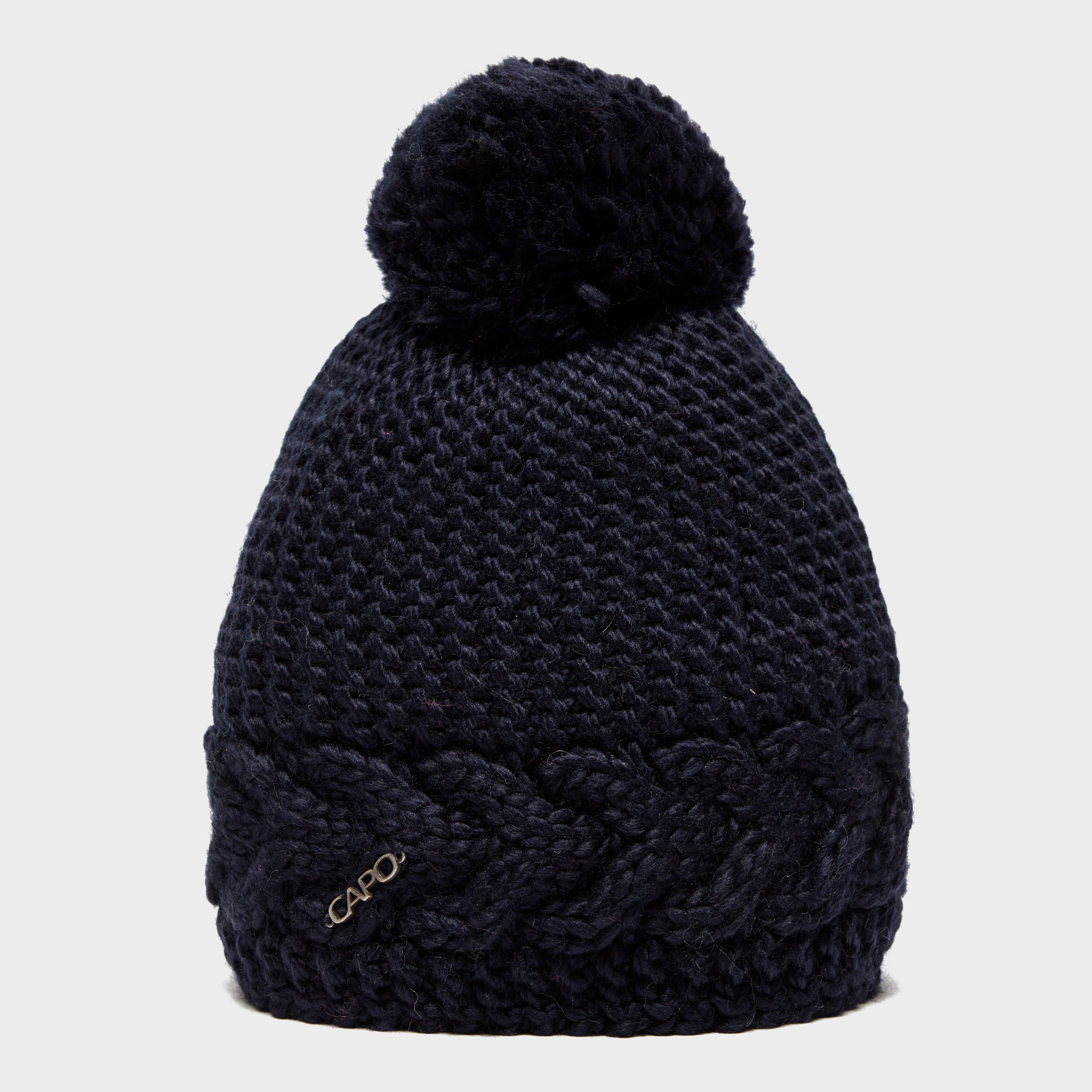 Capo Women's Flora Bobble Hat, Navy