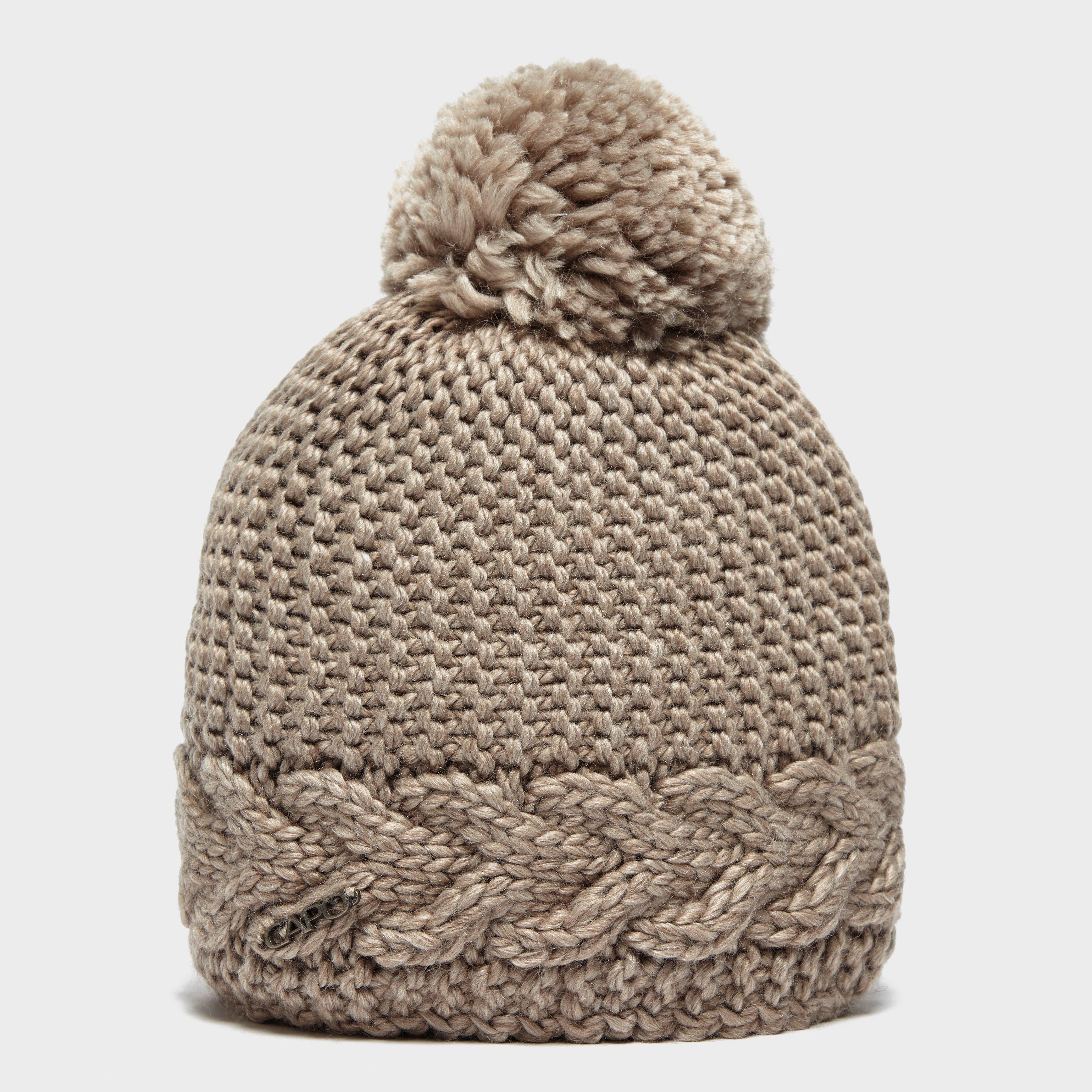 Capo Women's Flora Bobble Hat, Beige
