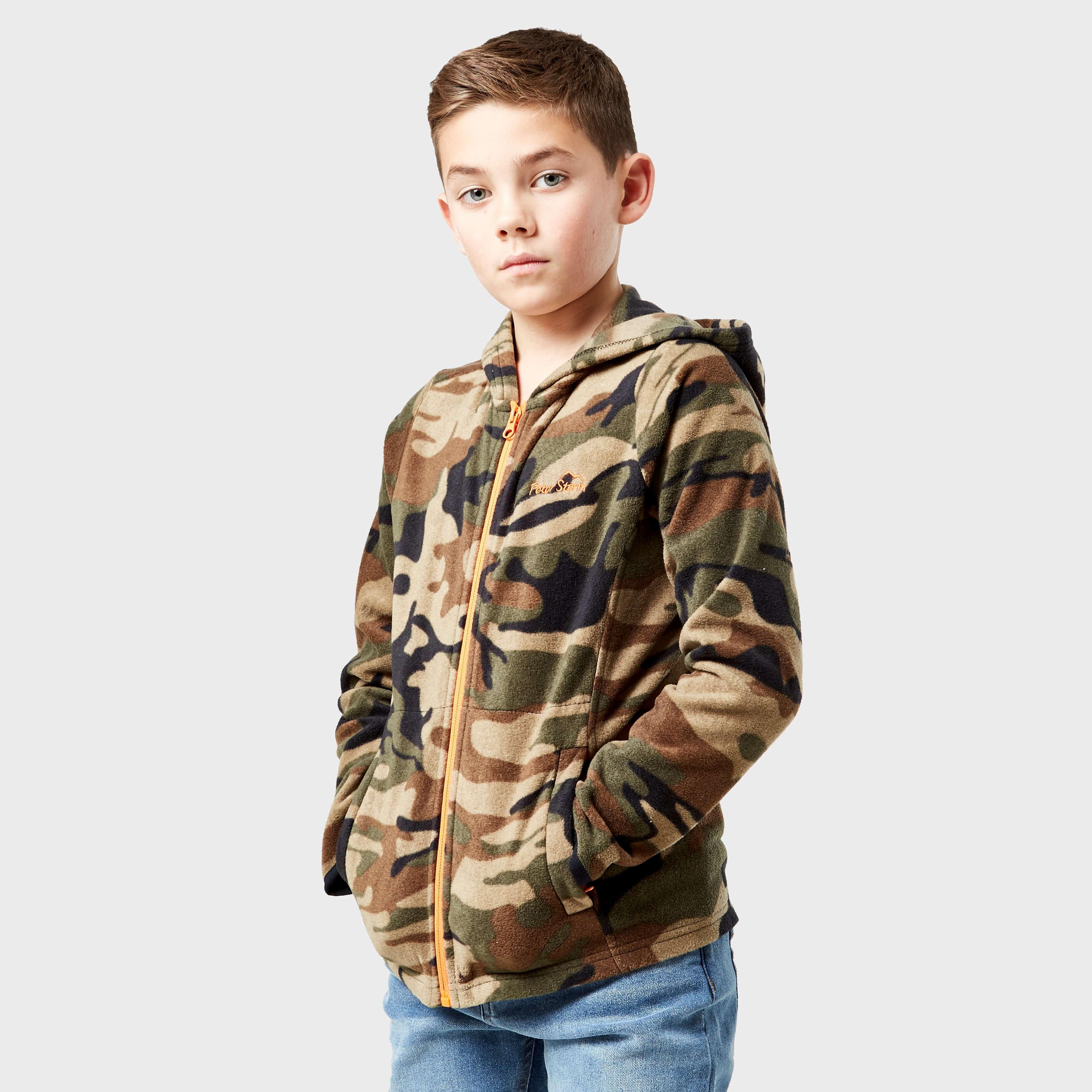 PETER STORM Boy's Full-Zip Camo II Fleece
