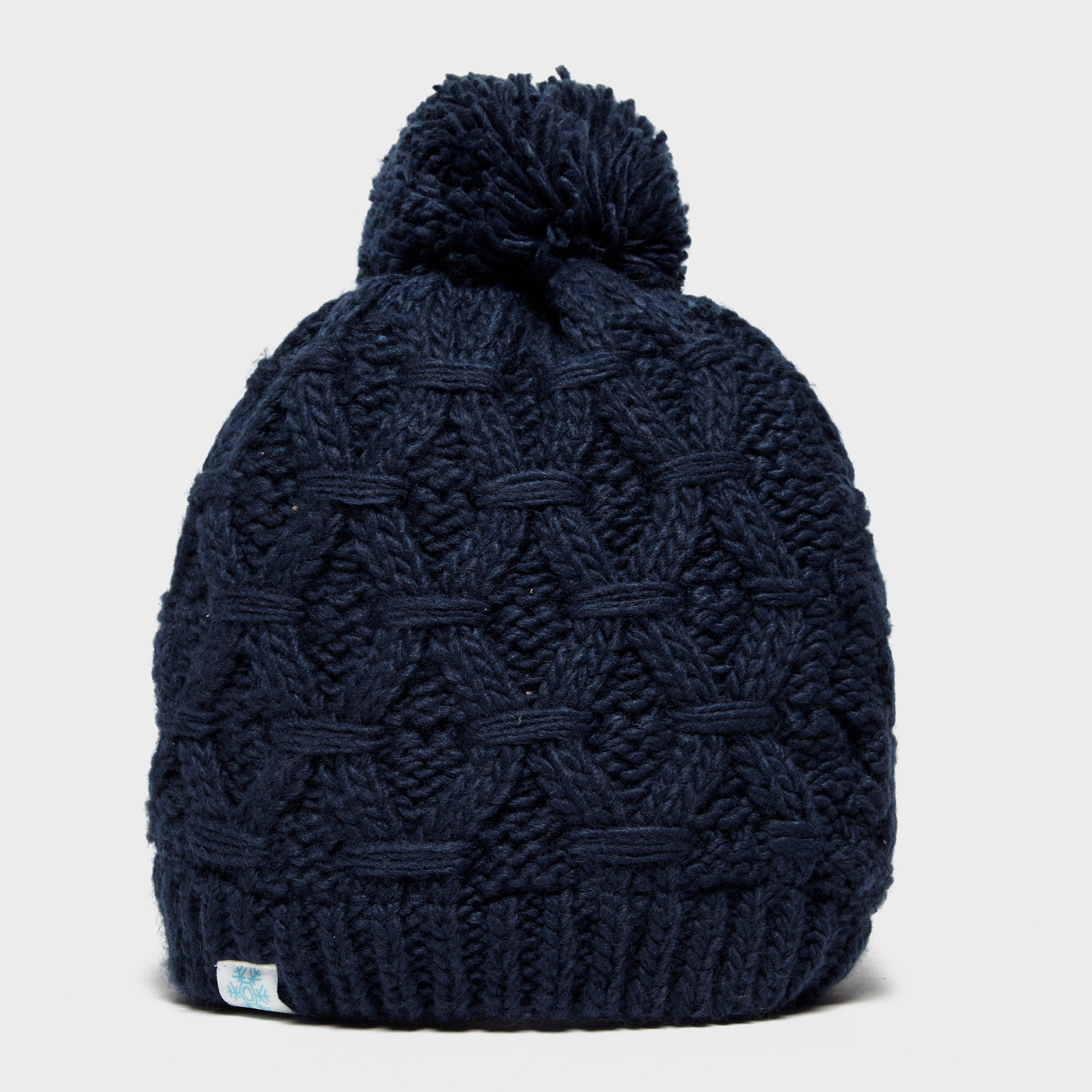 Alpine Women's Sapphire Bobble Hat, Navy