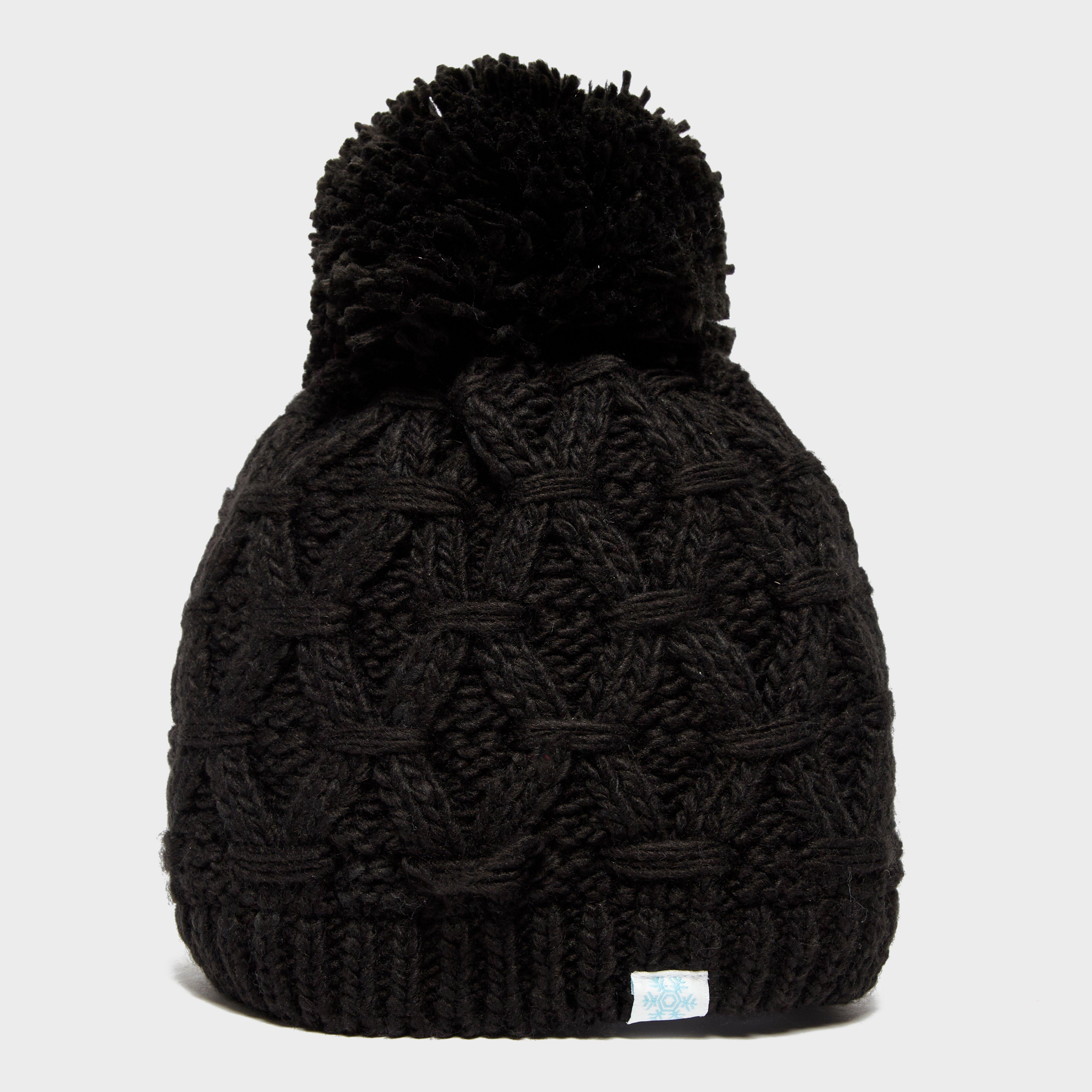 Alpine Women's Sapphire Bobble Hat, Black