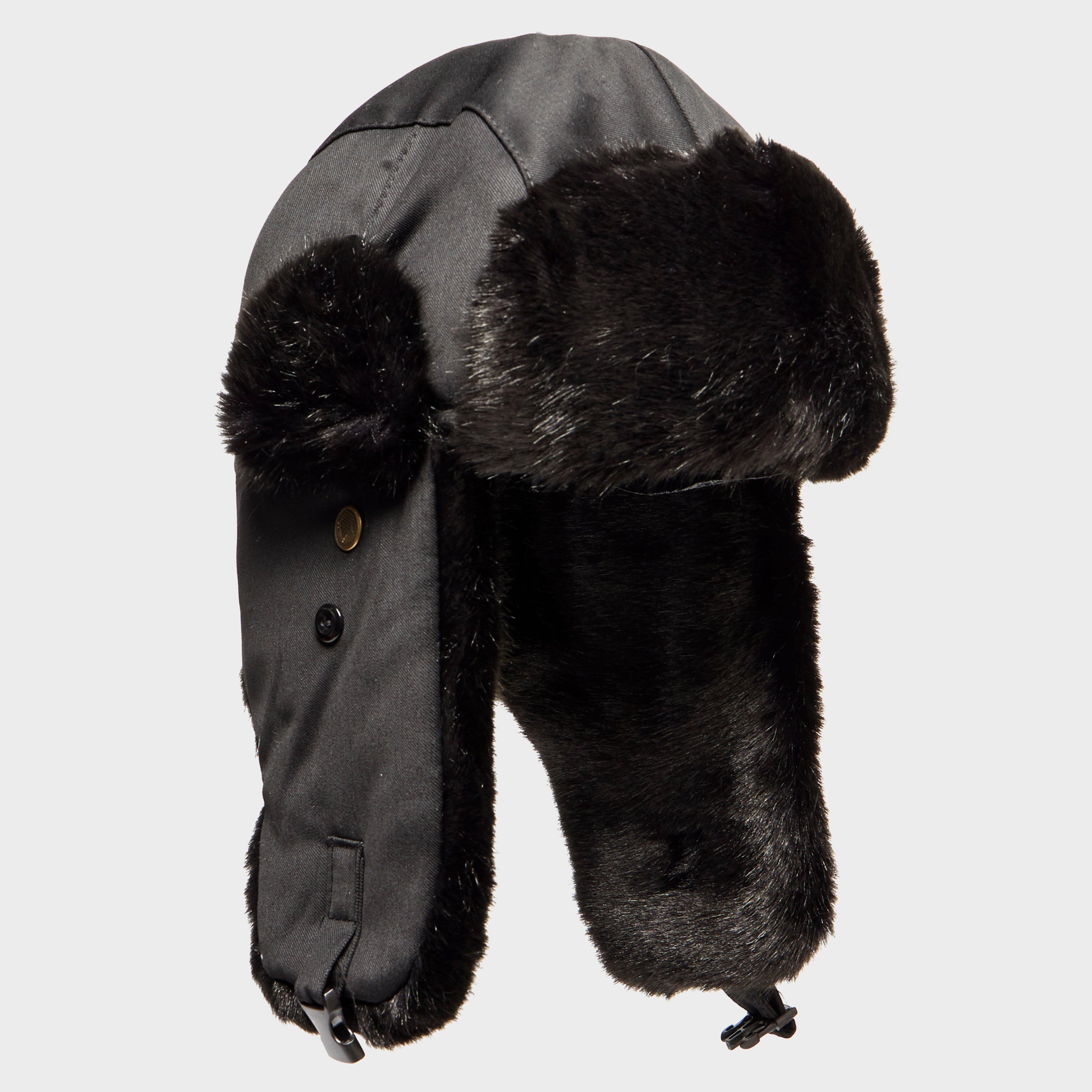 Alpine Women's Fur Trapper Hat, Black