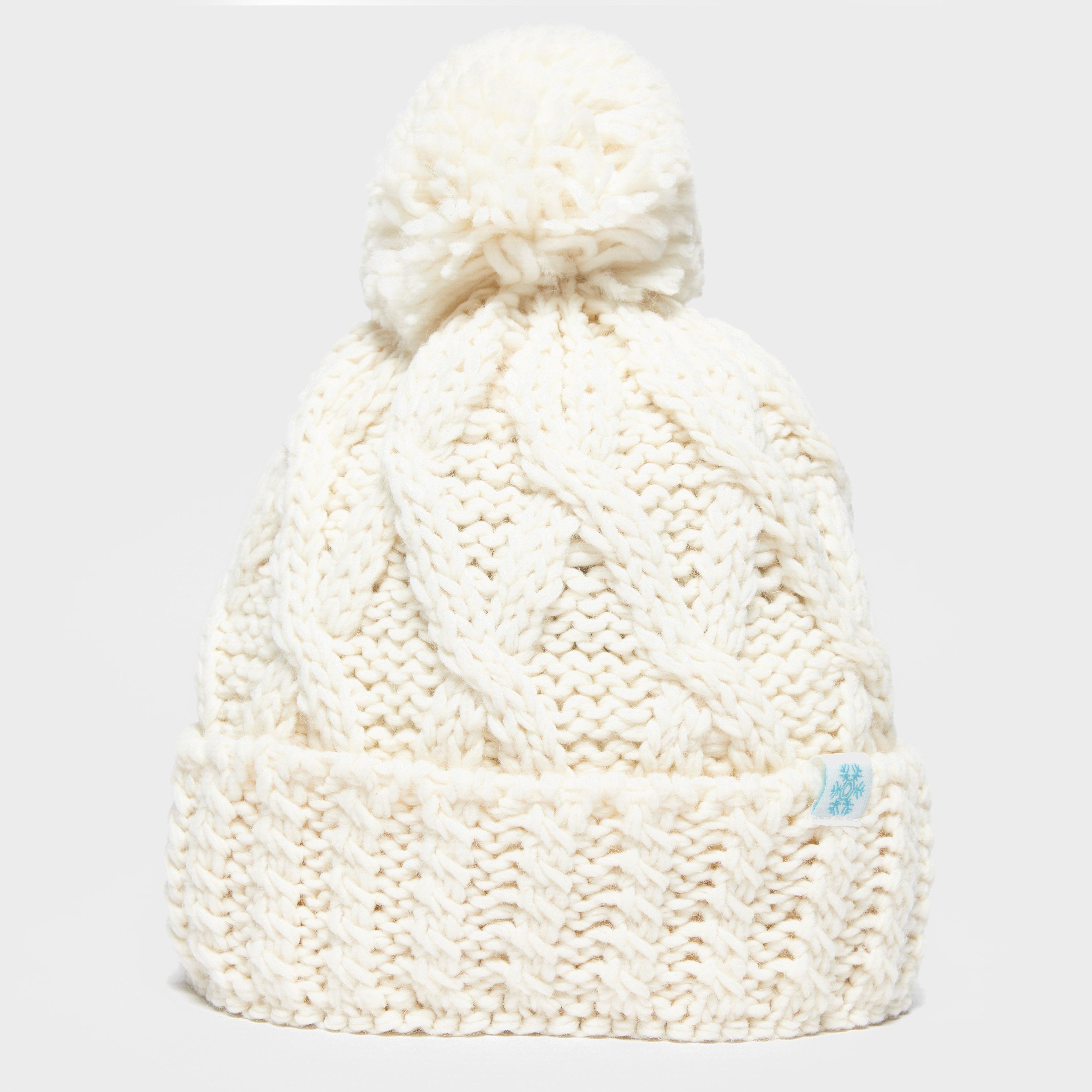 Alpine Women's Chunky Bobble Hat, Cream