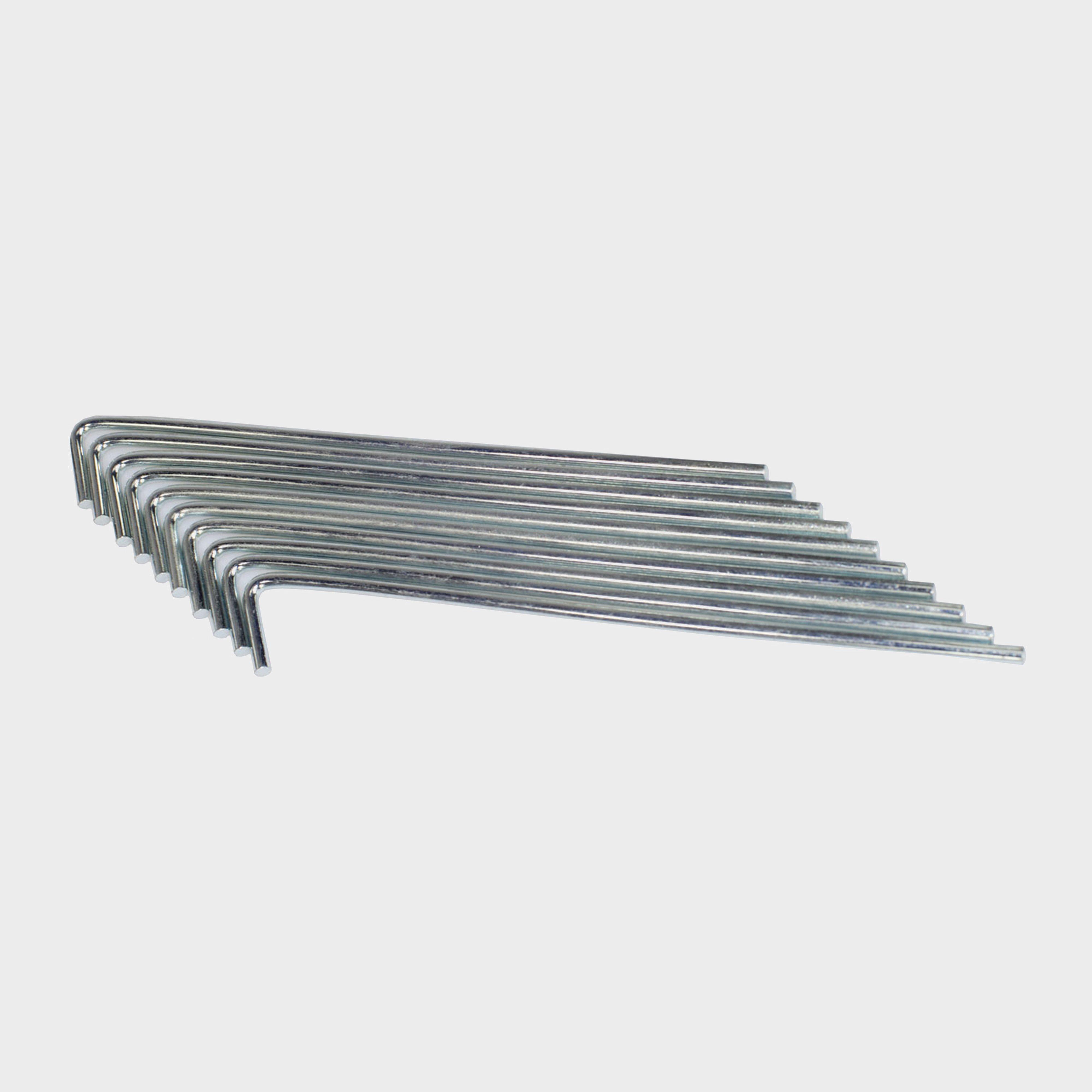 Hi-gear Roundwire Peg 10pk - Grey/[7in]  Grey/[7in]