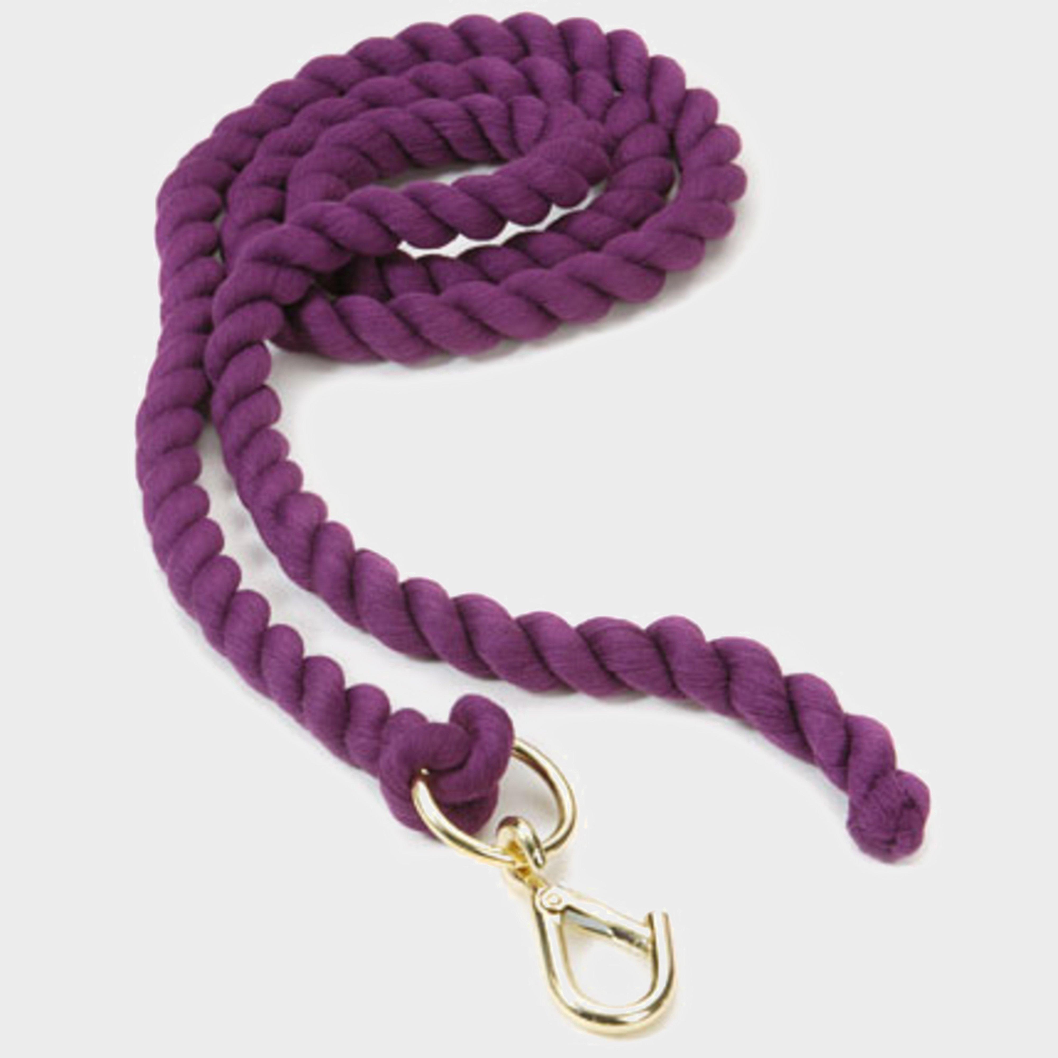 Shires Plain Headcollar Lead Rope - Purple/purple  Purple/purple