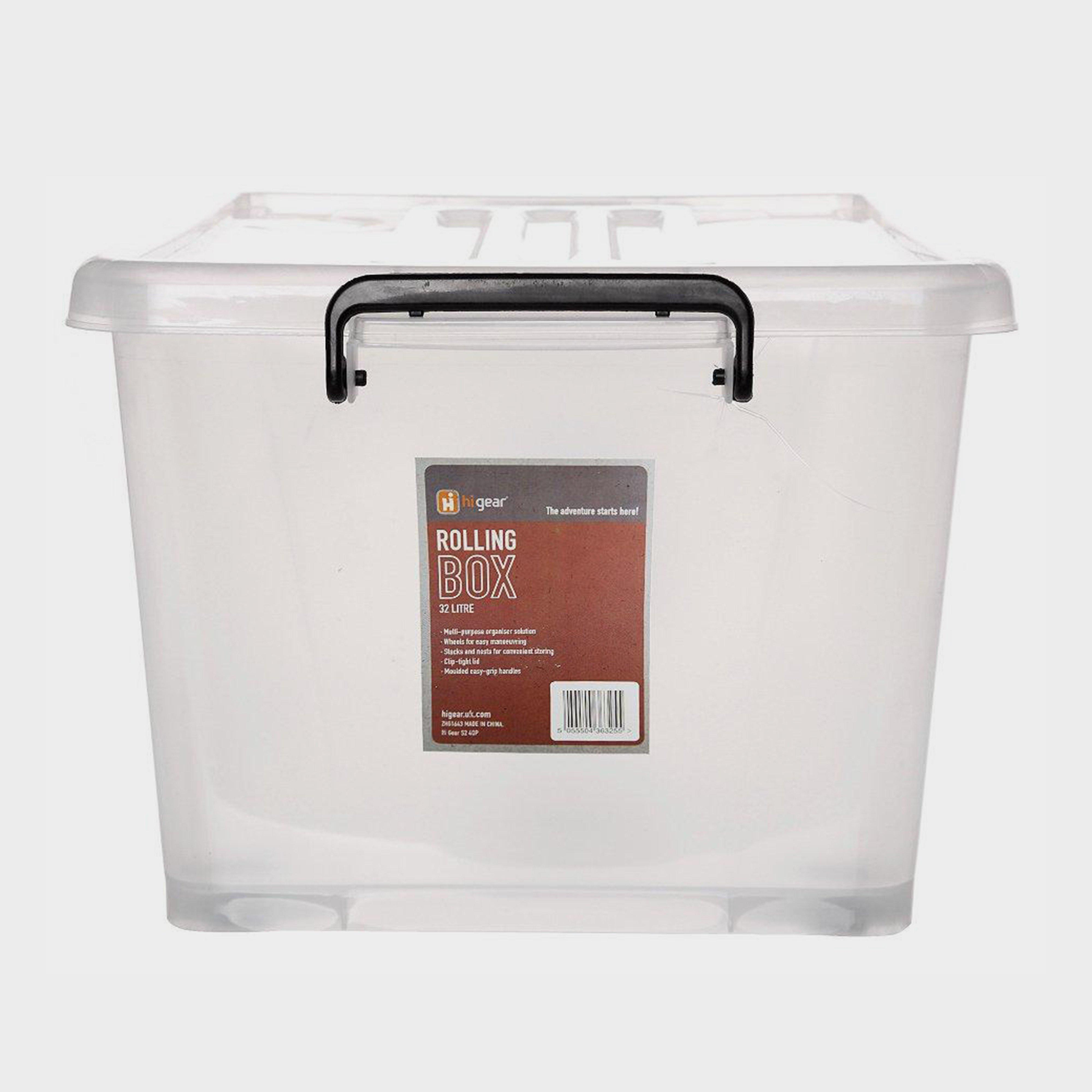 HI-GEAR Rolling Box (32 Litre), White/32L
