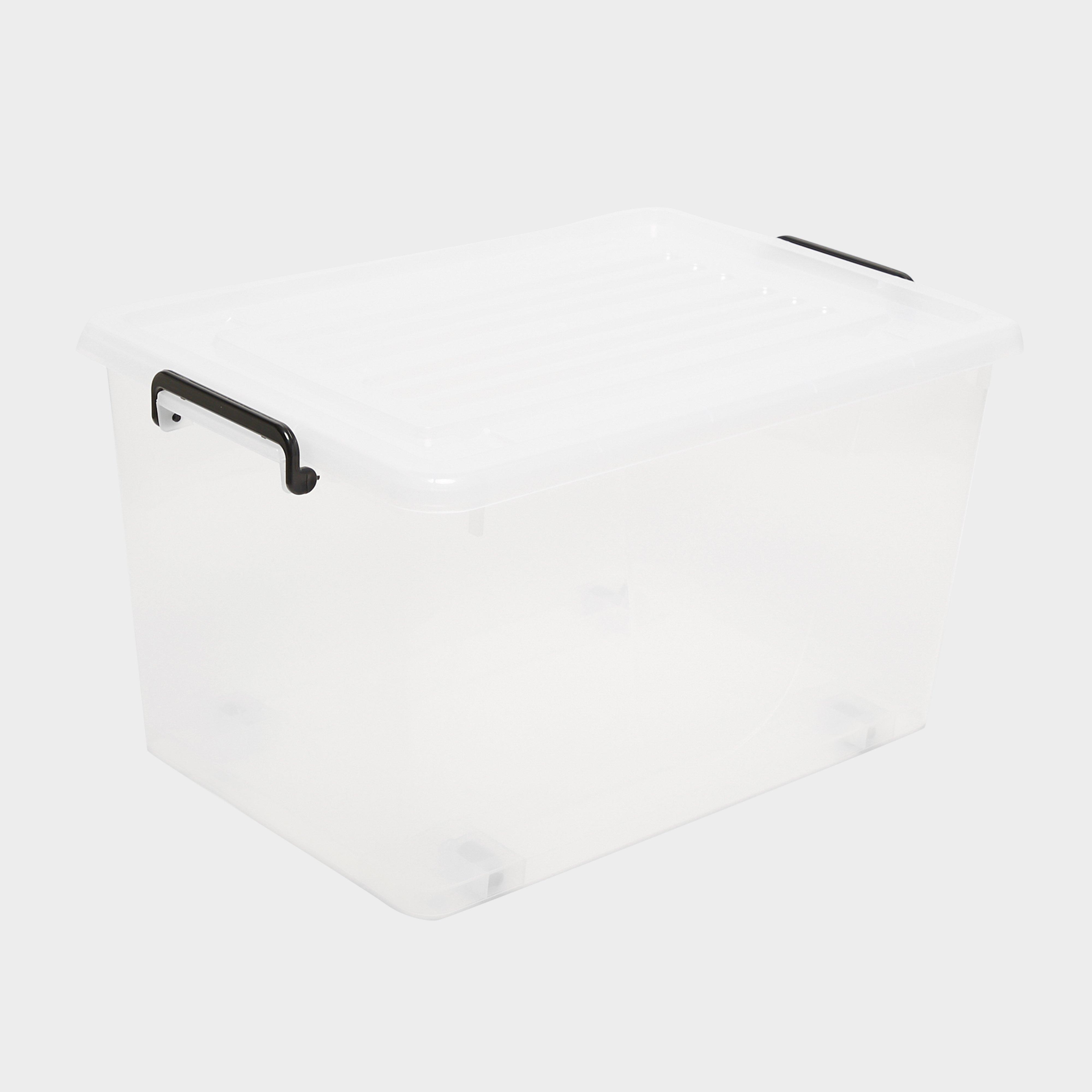 HI-GEAR Rolling Box (55 Litre), Clear/55L