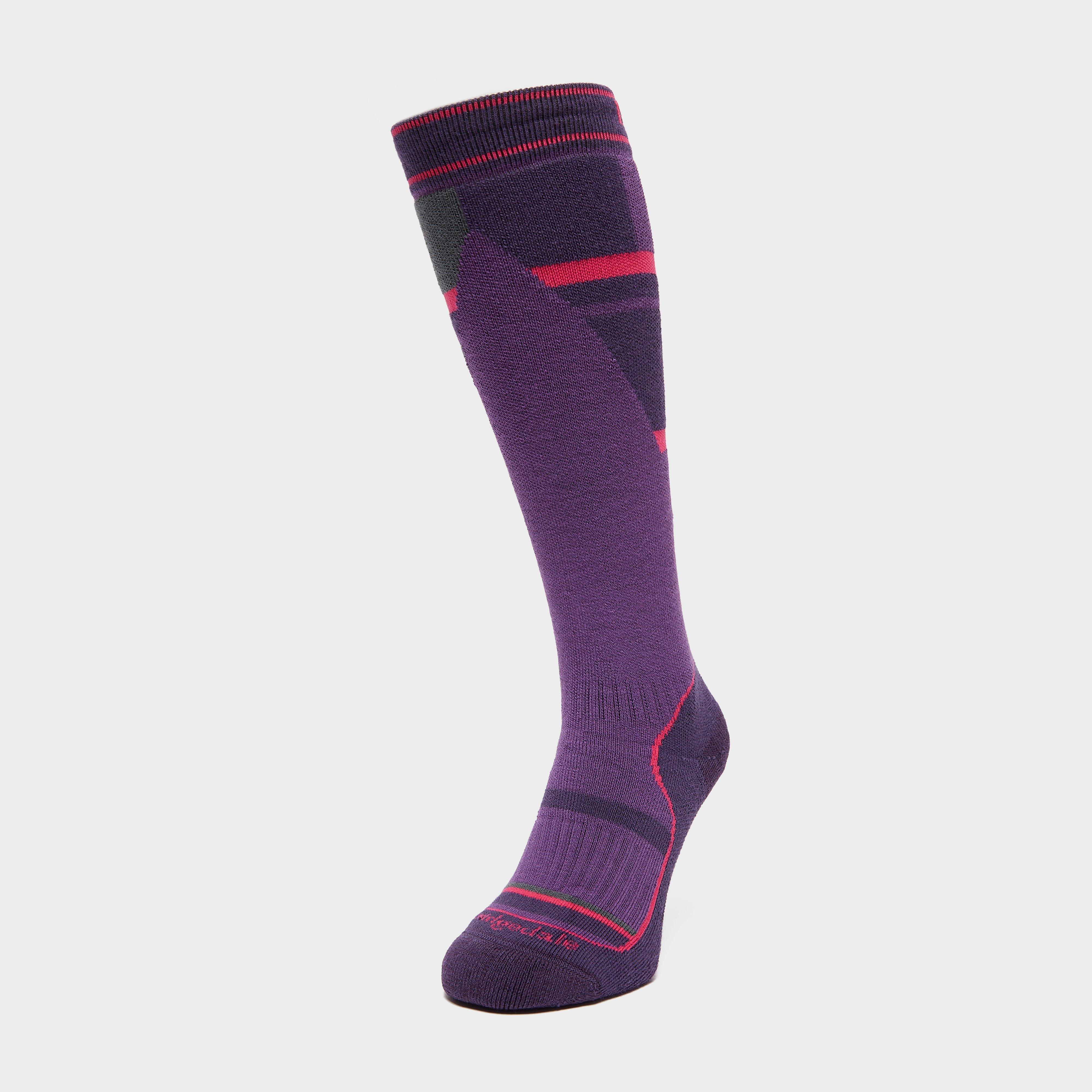 Bridgedale Kids Ski Mountain Junior Merino Endurance Socks - Purple/childre  Purple/childre